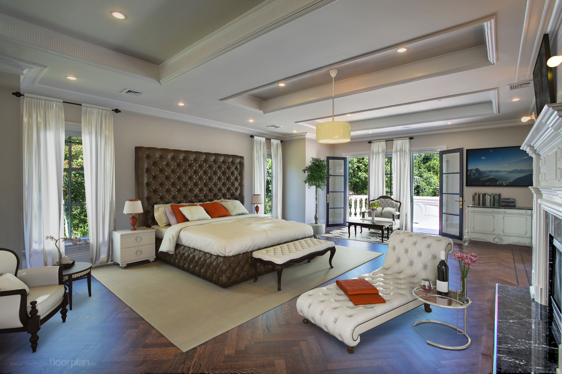 Virtually Staged Image of 15 Dupont Circle Master Bedroom