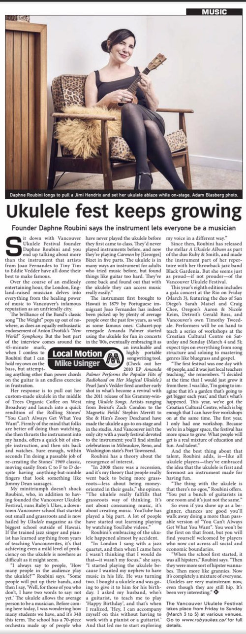 Vancouver Ukulele Festival continues to grow