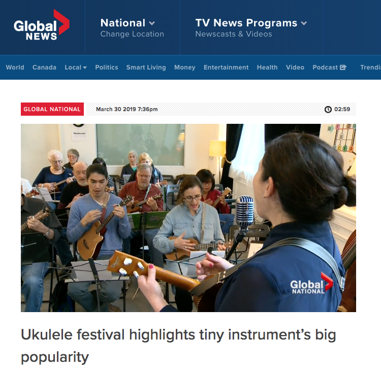 Global News | Ukulele festival