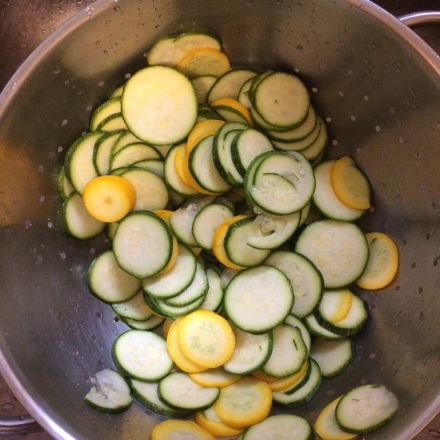Zucchini before carpaccio