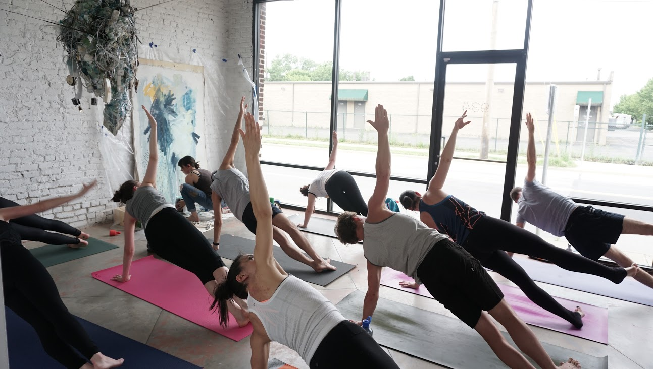 Art of Awareness Yoga at 934 Gallery,June 2016 - photo by Heather Taylor
