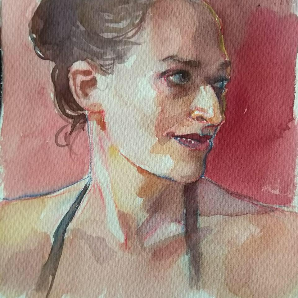 Painting by the extraordinarily talented Marina Vermilion!