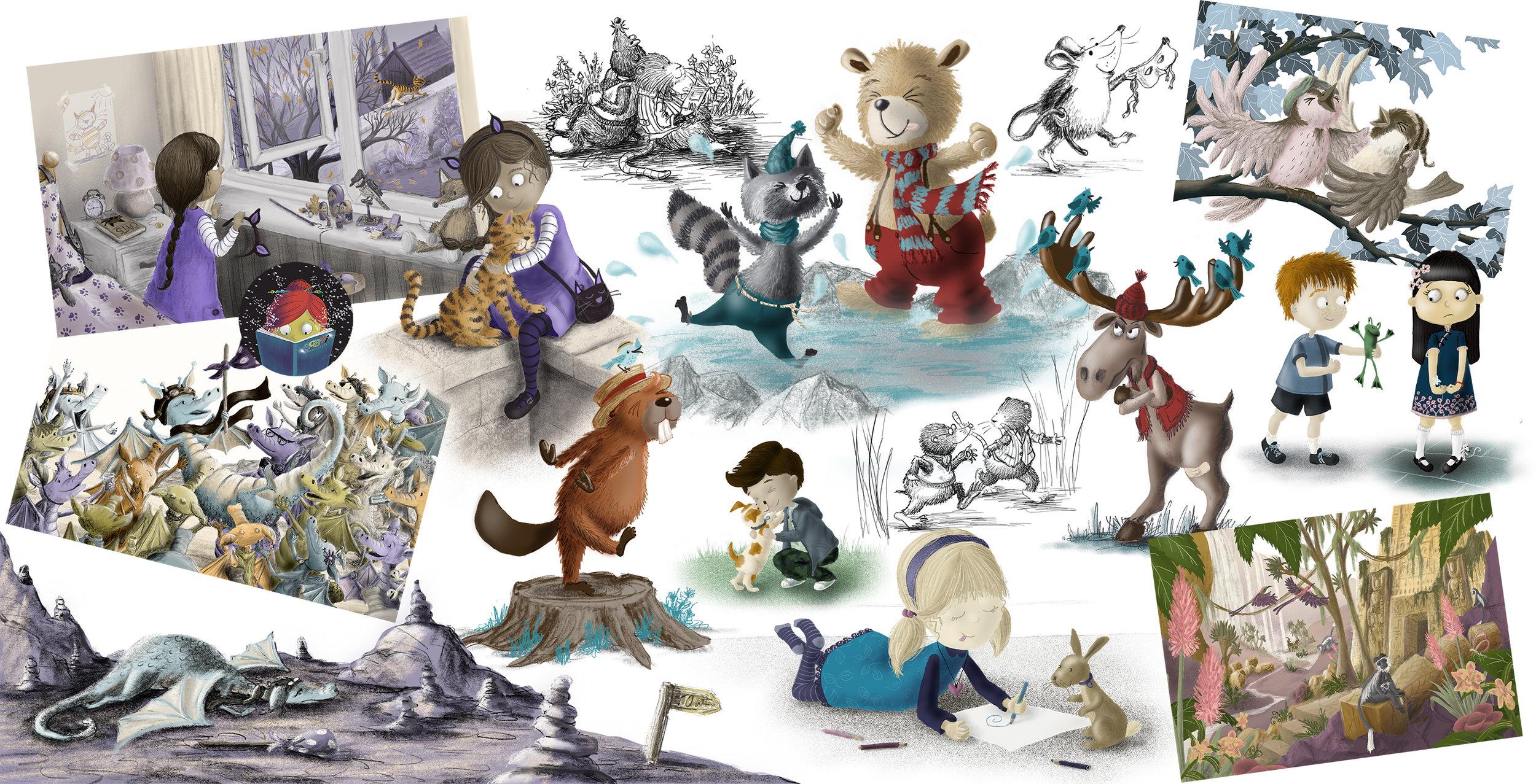Suzanne Dore children's book illustration non-fiction fiction picture books