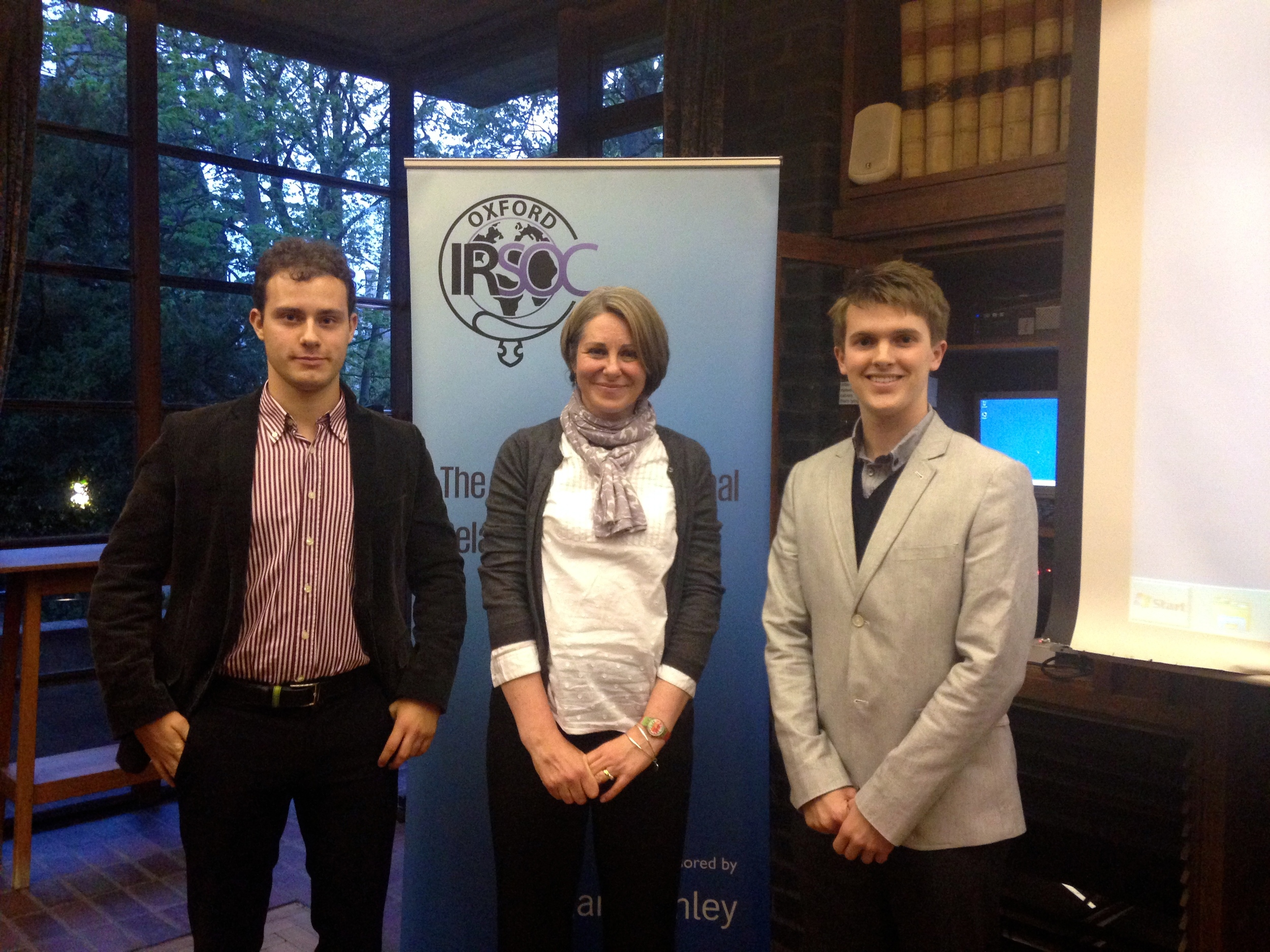 The President of OU European Affairs Society with Natalie Martin and Daniel Bayliss (President)