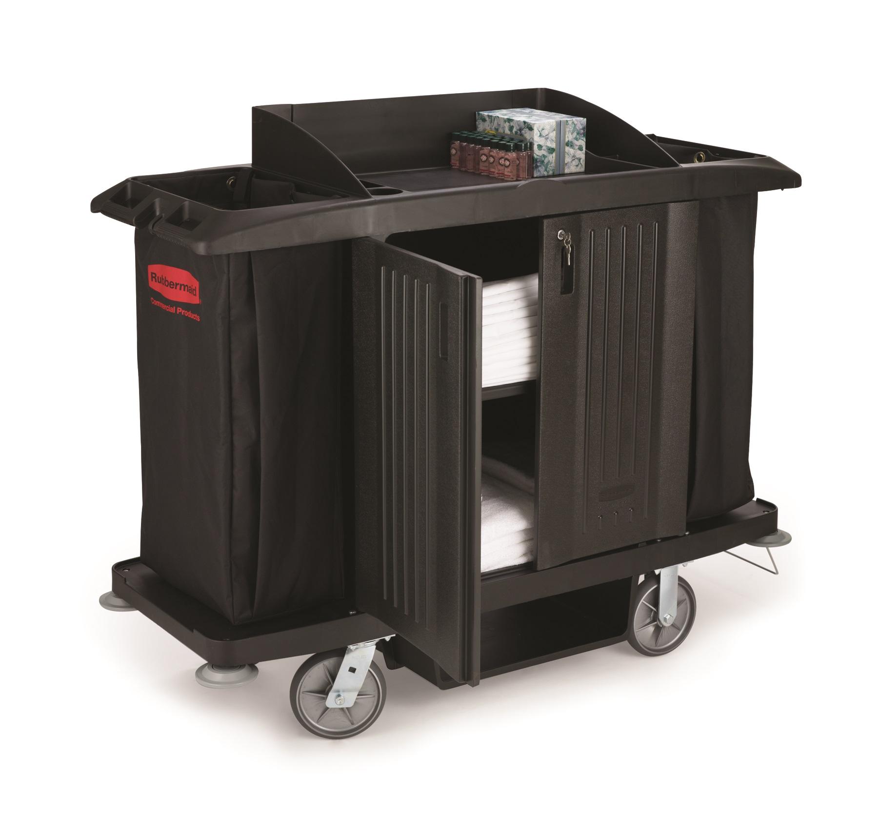 photo of rubbermaid housekeeping cart