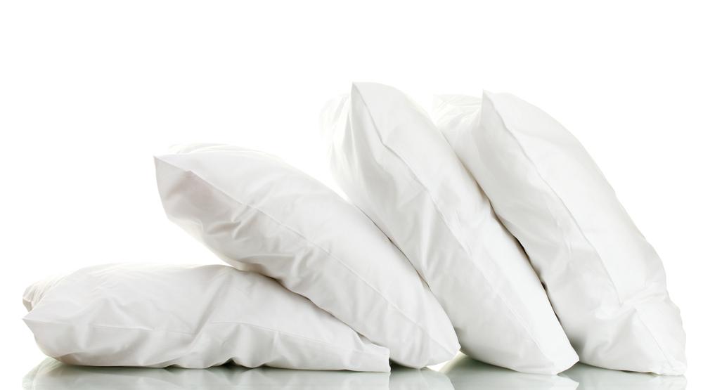 photo of gel fiber hotel pillow