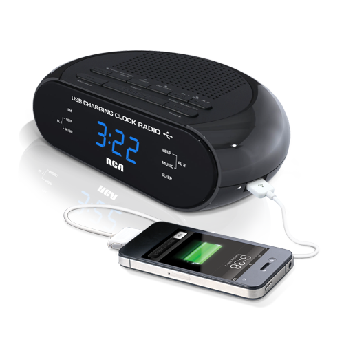 USB hotel clock radio