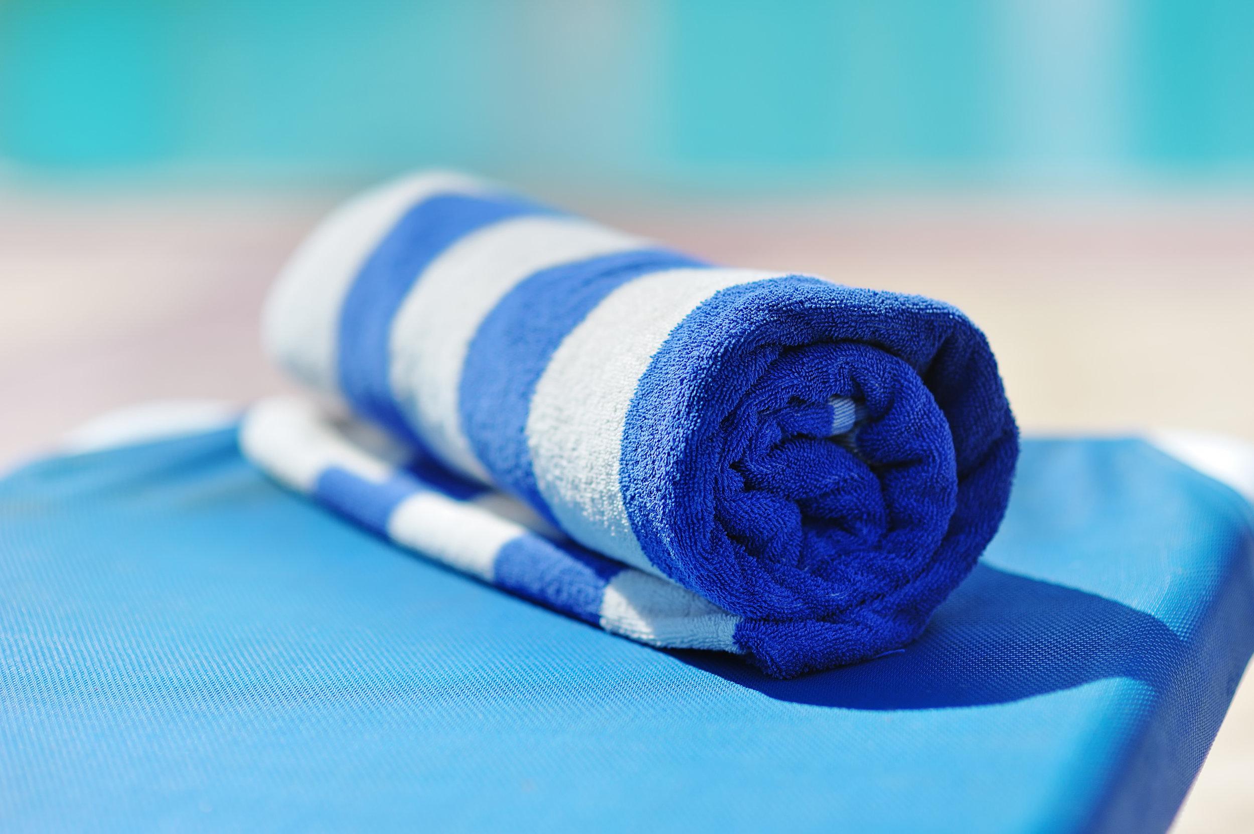 hotel cabana stripe pool towel