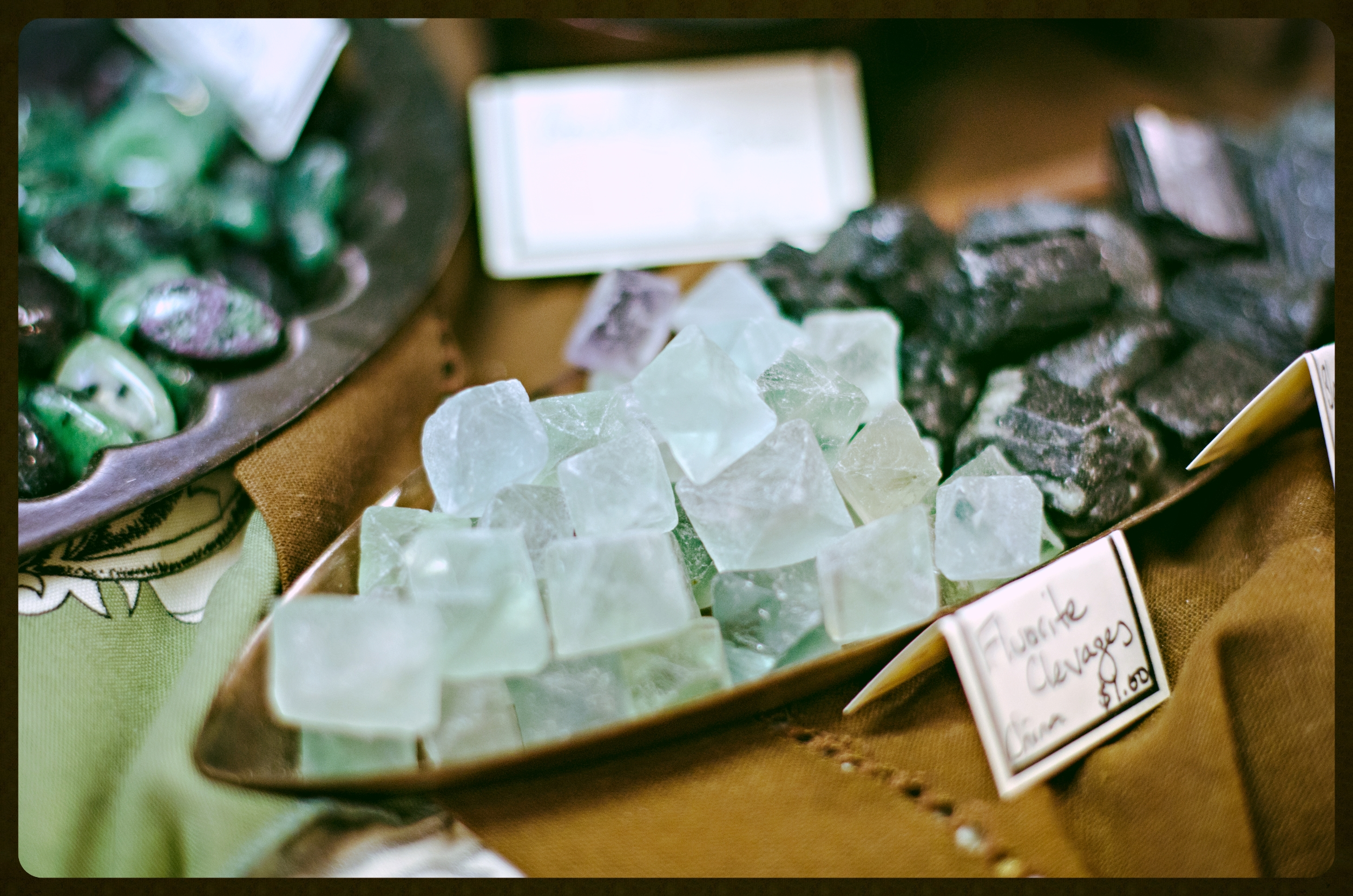 Fluorite Clevages