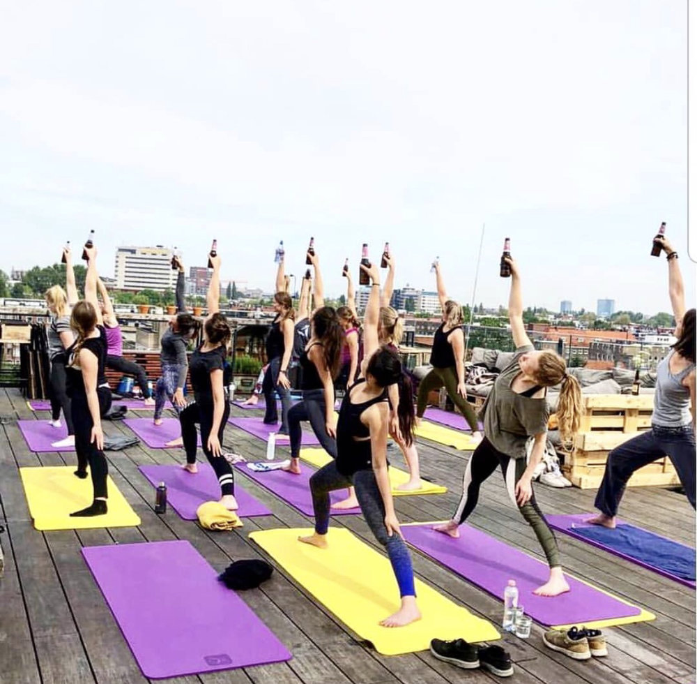 Beer Yoga at HOPP Amsterdam