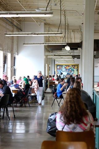 Lots of seating on the upper level of North Market!
