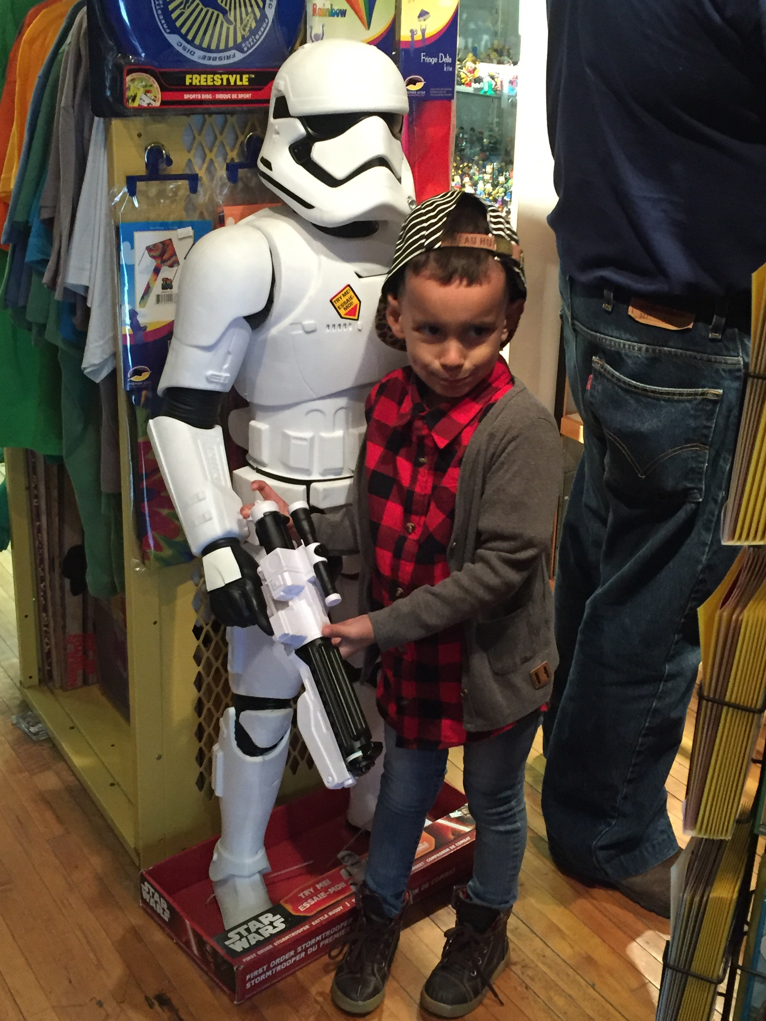 Checking out all the cool toys and comic books at  Big Fun  on High Street