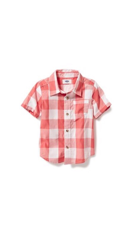 Simple button down from  Old Navy  for big brother.
