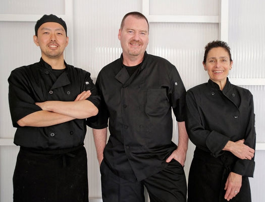 Chefs Wataru Seiki, Dana Honn and Christina Honn