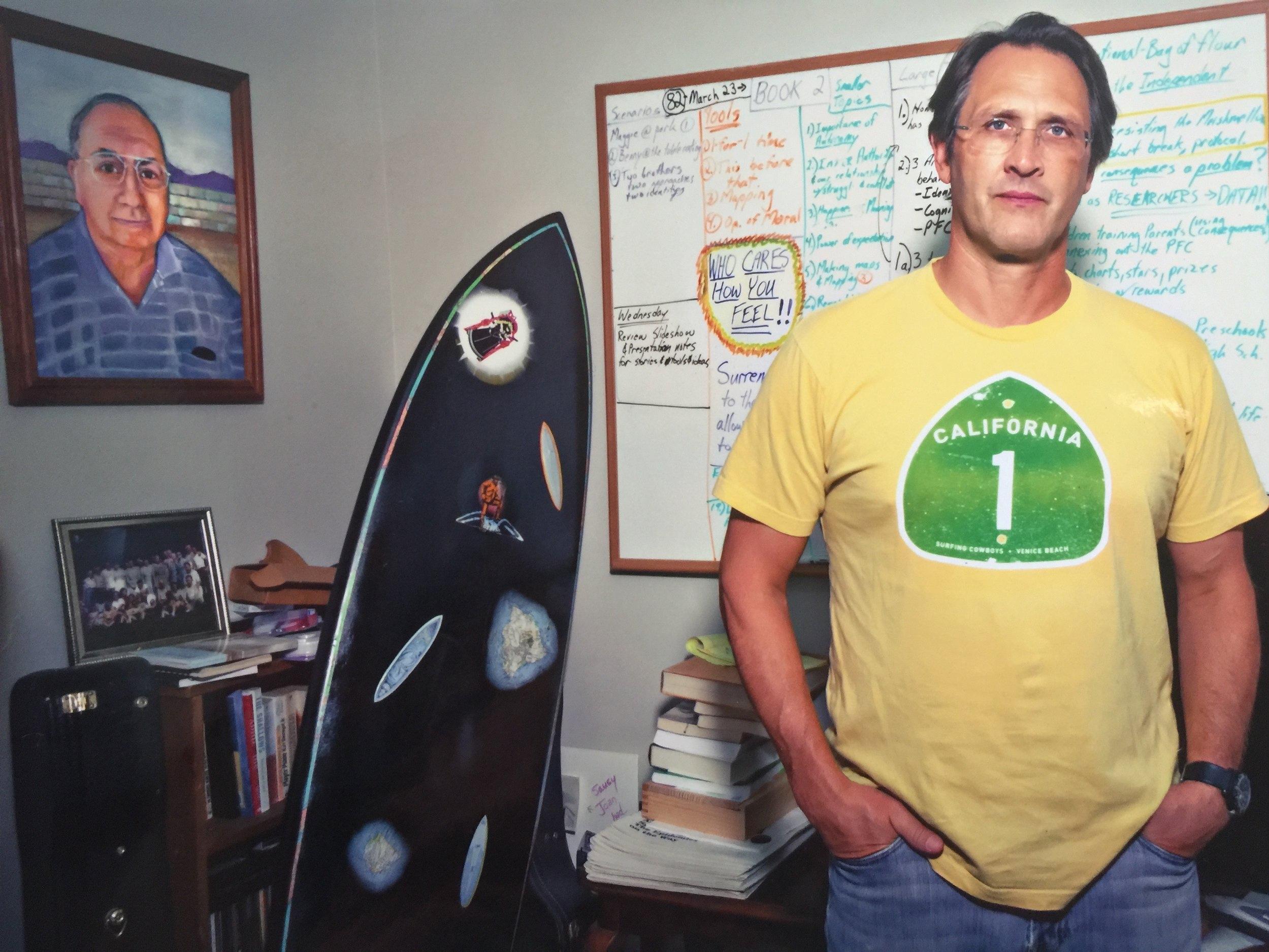 Joe Newman at his home office in Santa Monica, California.