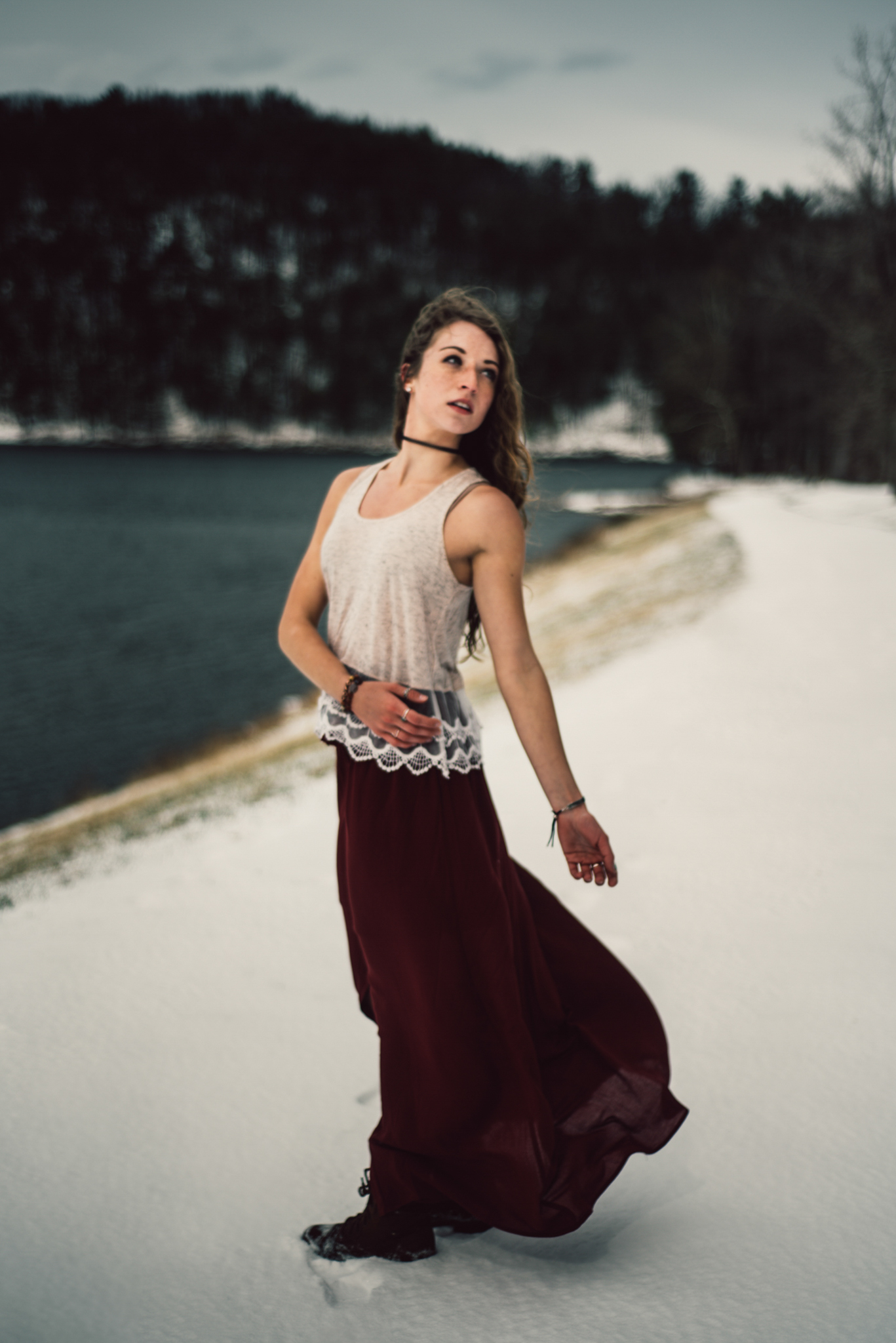 Moody Snowy Portrait Session at Lake Arrowhead in Luray Virginia_20.JPG