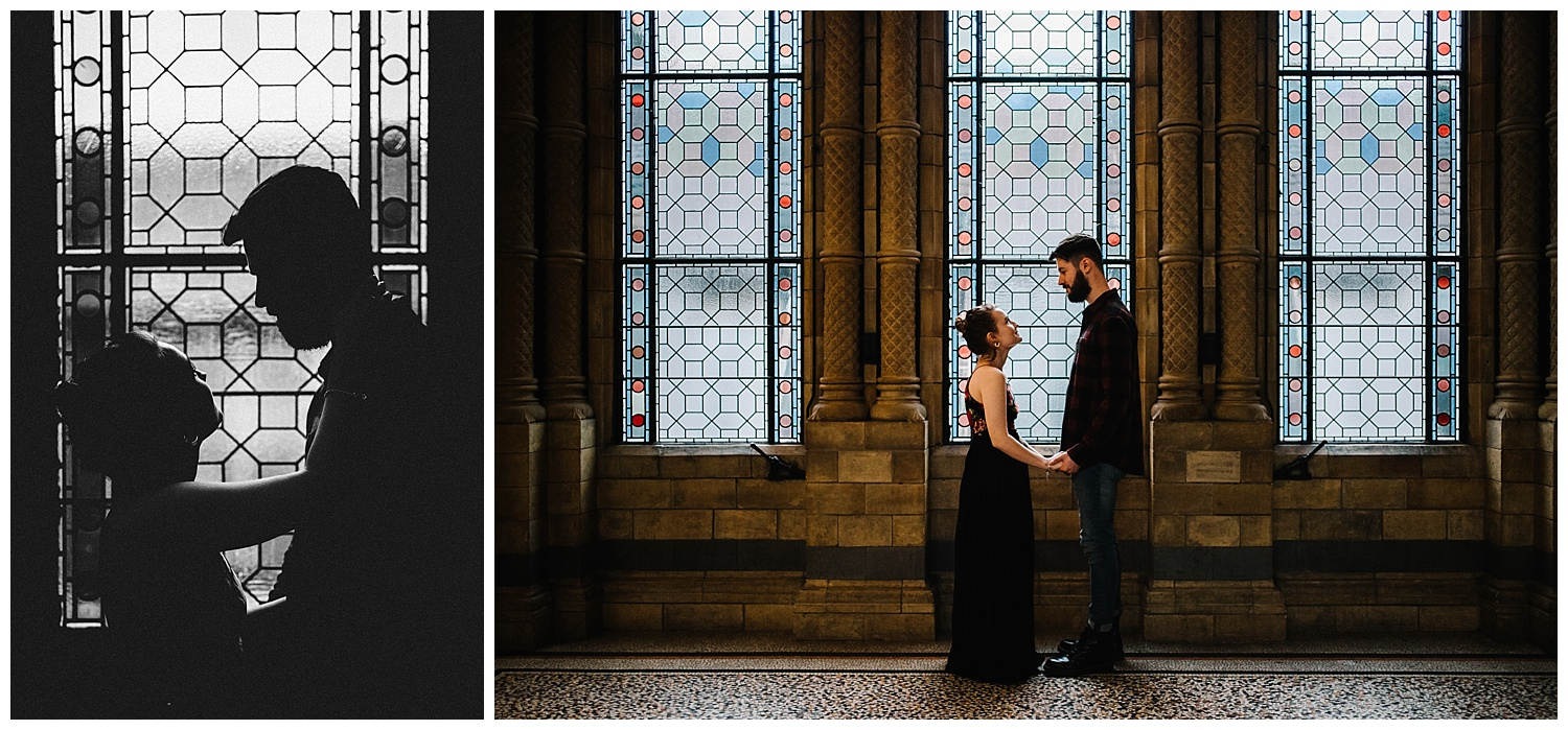Grace and Jack London Natural History Museum Couple Portrait Session England_0.jpg