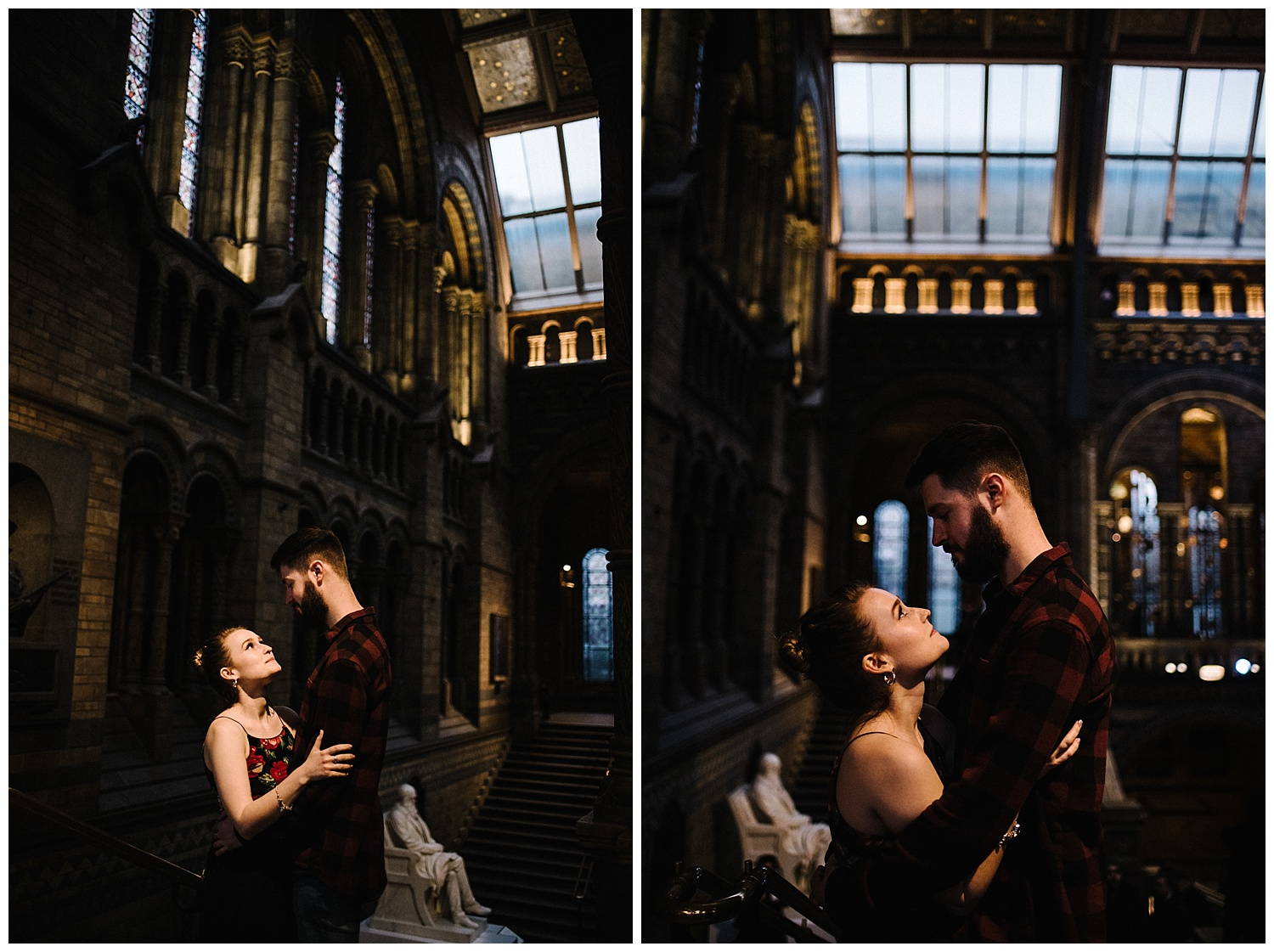 Grace and Jack London Natural History Museum Couple Portrait Session England_4.jpg