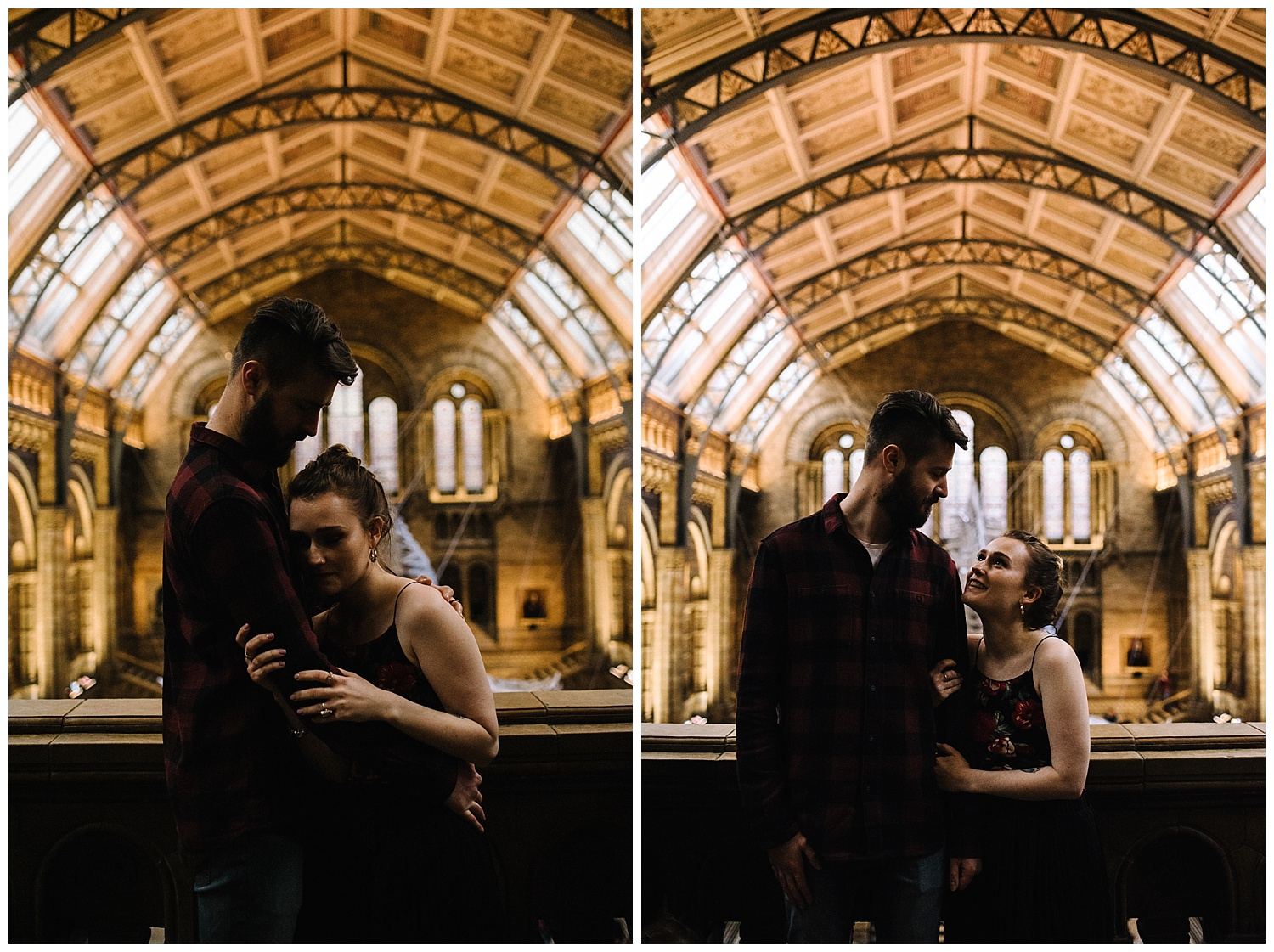 Grace and Jack London Natural History Museum Couple Portrait Session England_13.jpg