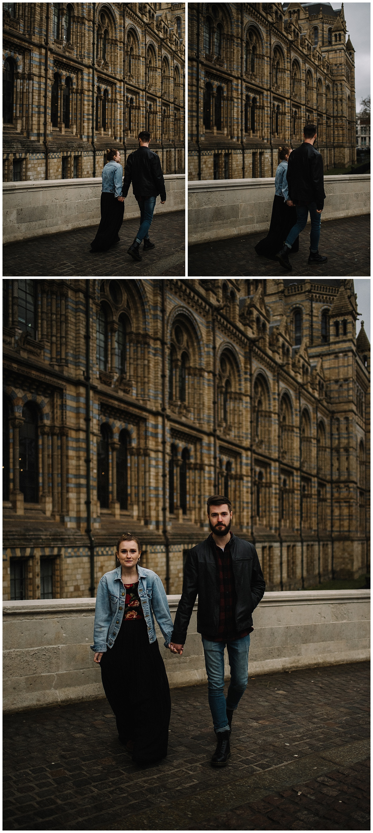 Grace and Jack London Natural History Museum Couple Portrait Session England_16.jpg