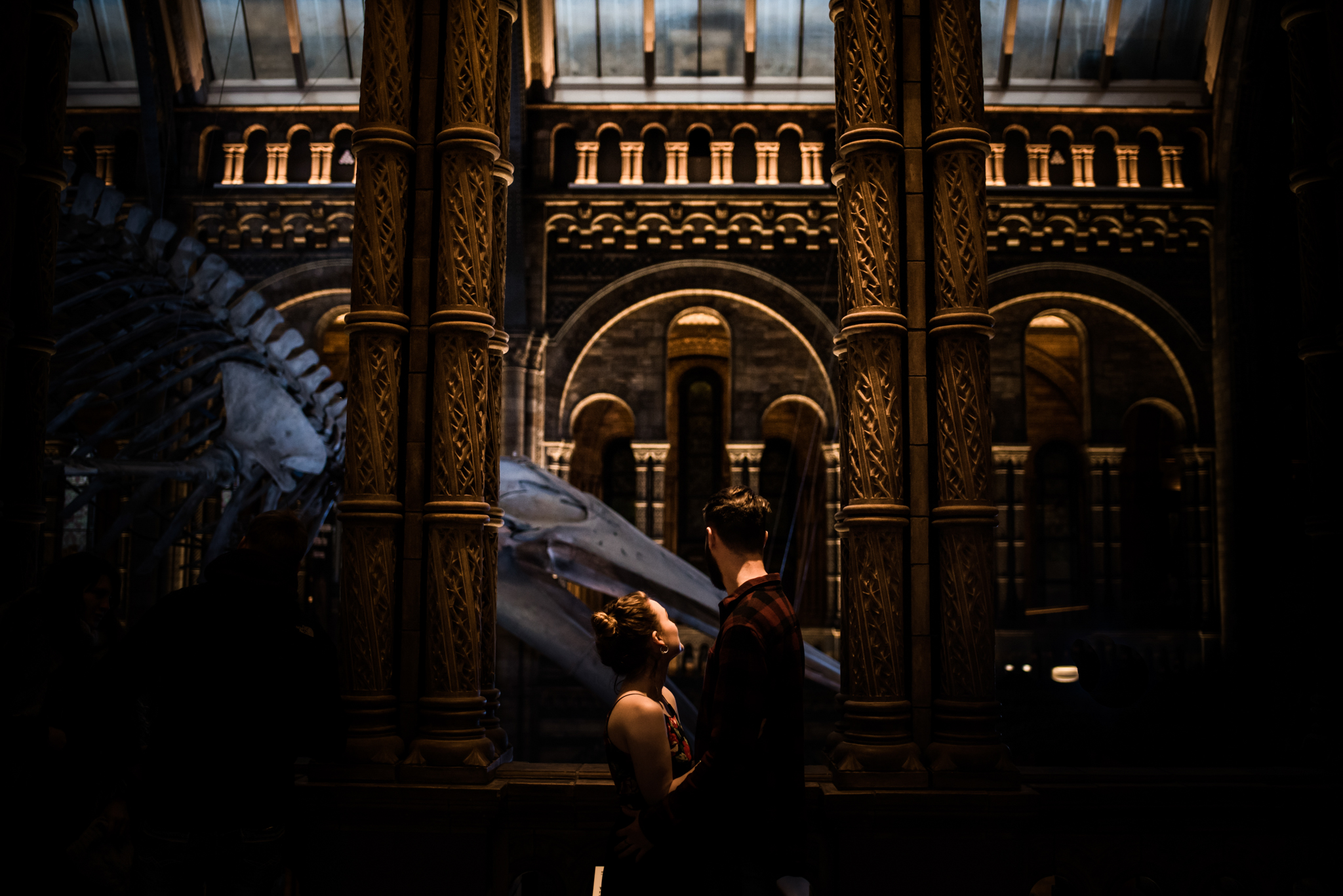 Grace and Jack London Natural History Museum Couple Portrait Session England_25.JPG