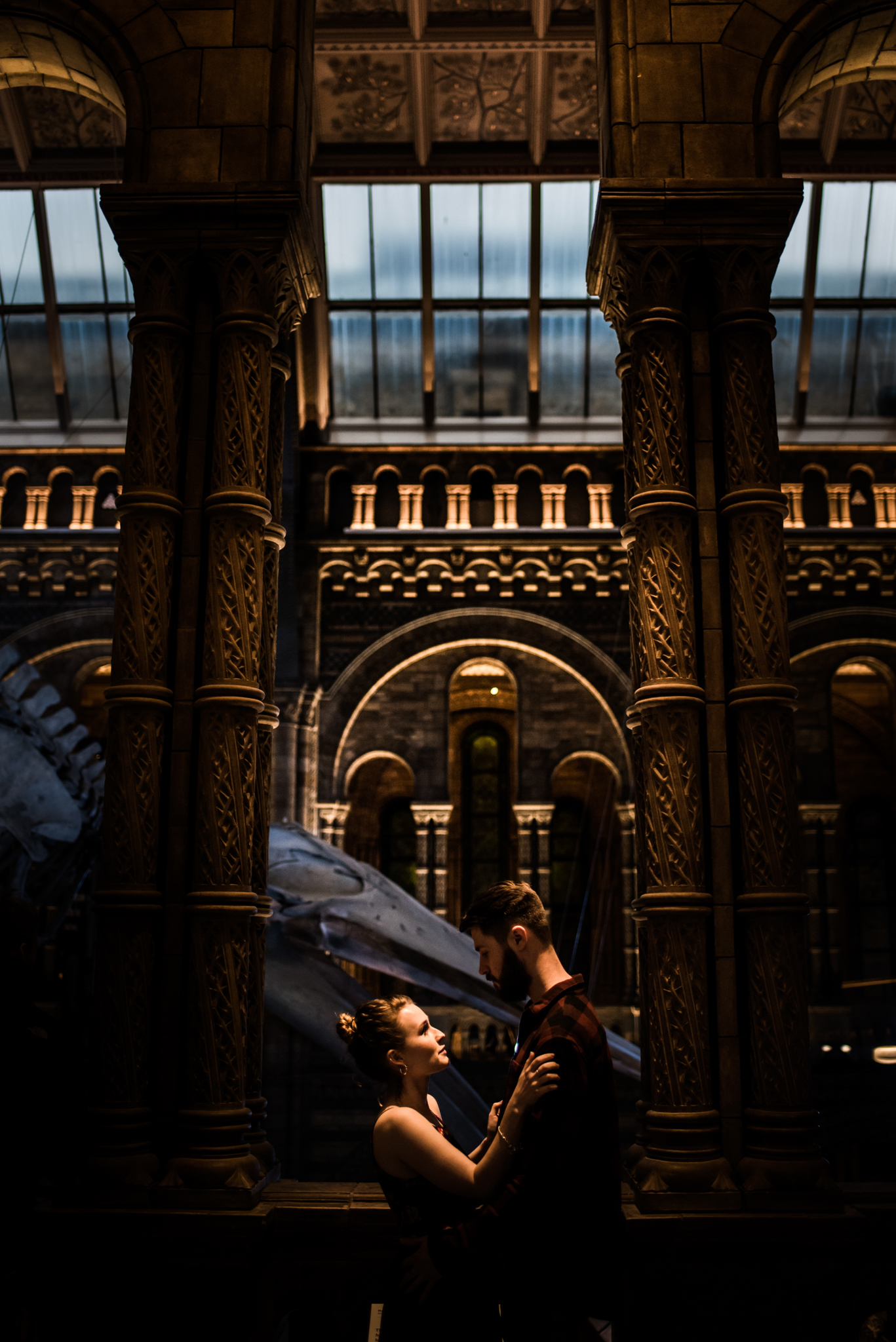 Grace and Jack London Natural History Museum Couple Portrait Session England_26.JPG