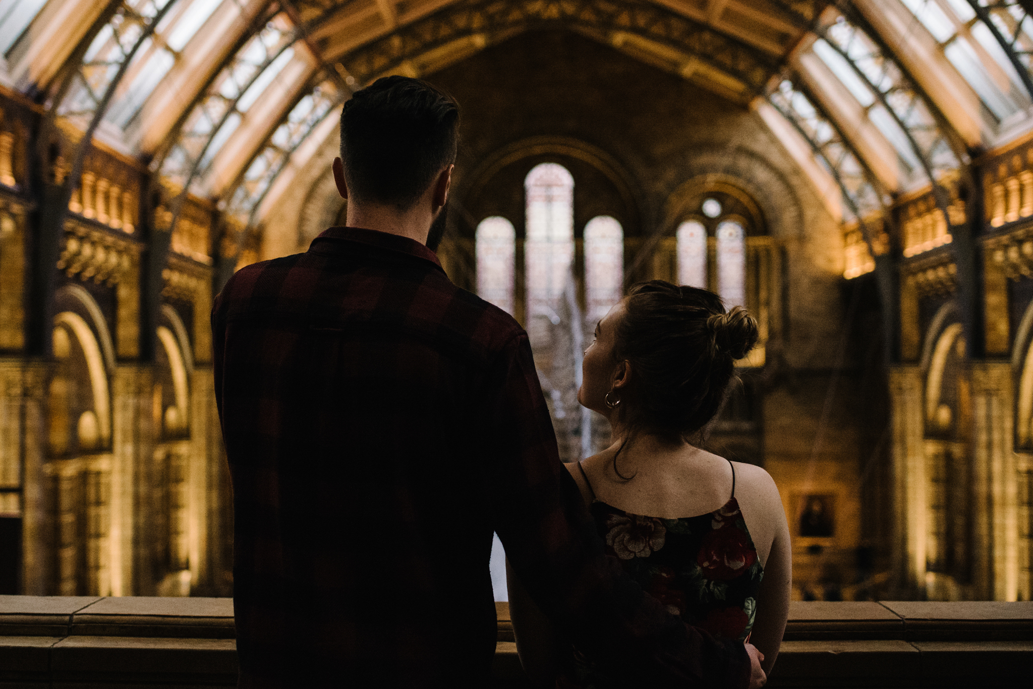 Grace and Jack London Natural History Museum Couple Portrait Session England_31.JPG