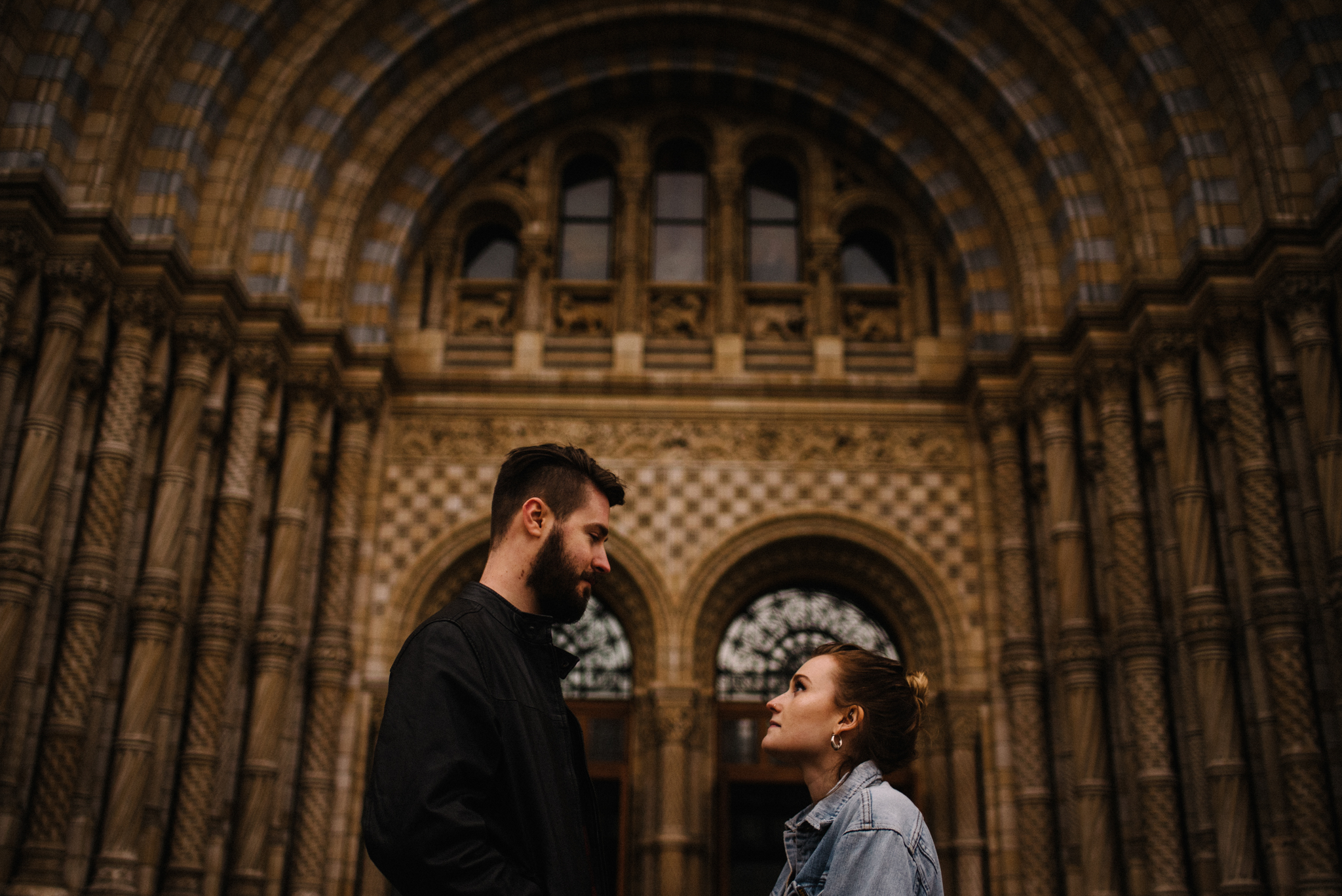 Grace and Jack London Natural History Museum Couple Portrait Session England_39.JPG