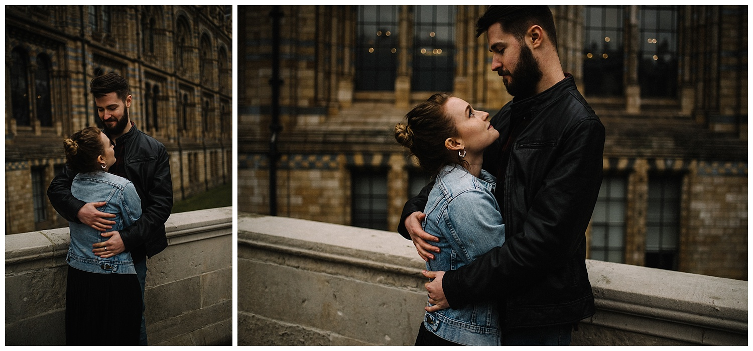 Grace and Jack London Natural History Museum Couple Portrait Session England_46.jpg