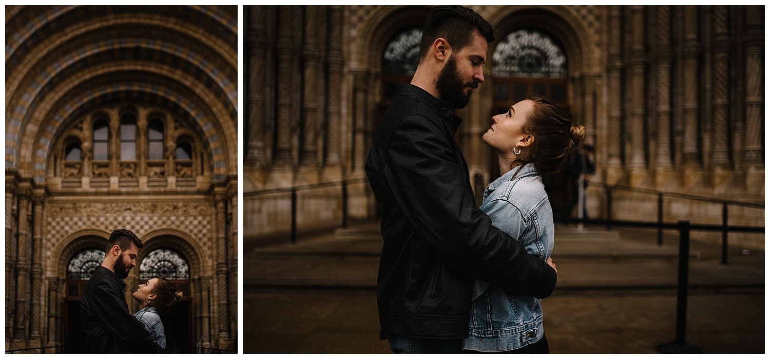 Grace and Jack London Natural History Museum Couple Portrait Session England_48.jpg