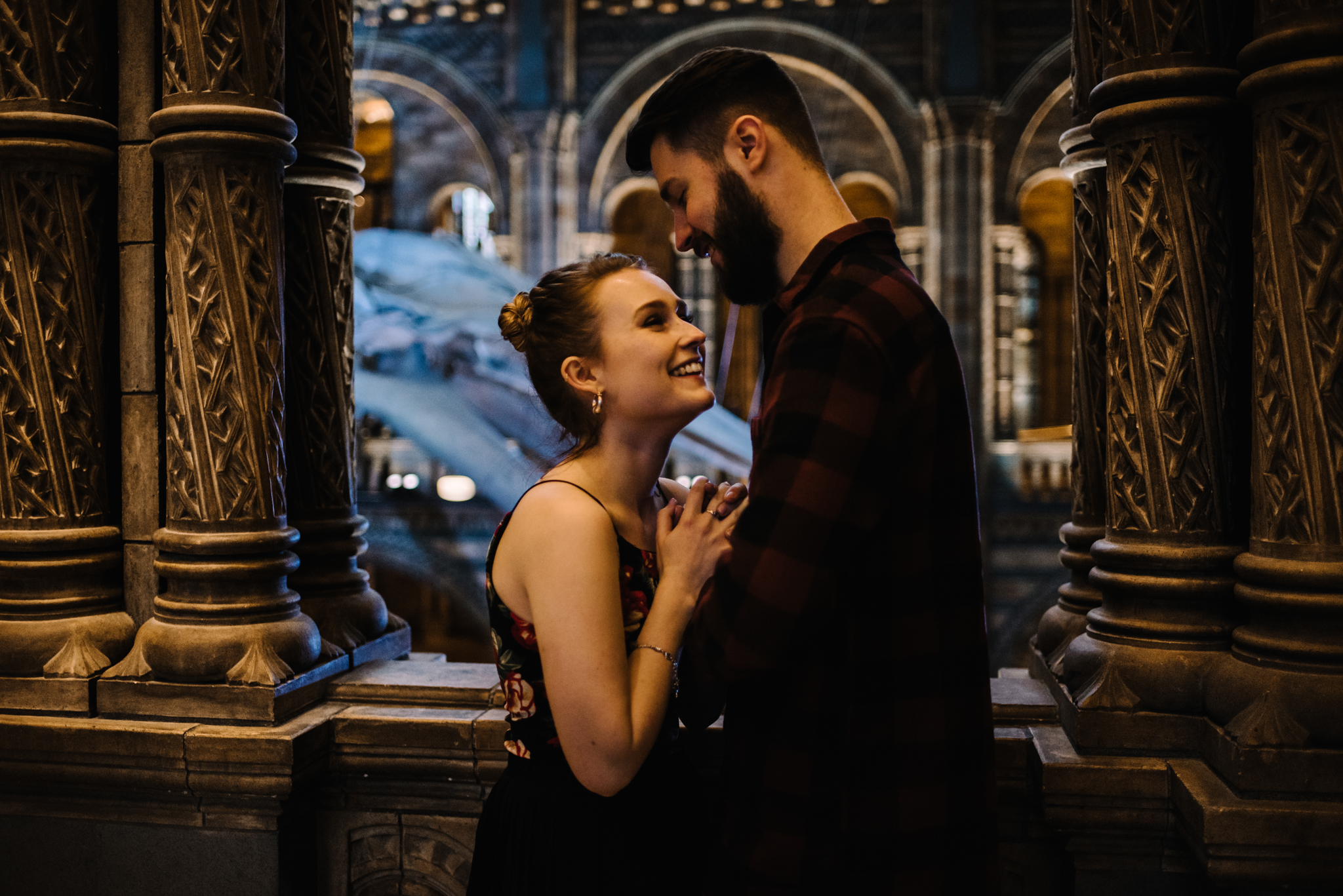 Grace and Jack London Natural History Museum Couple Portrait Session England_2.JPG