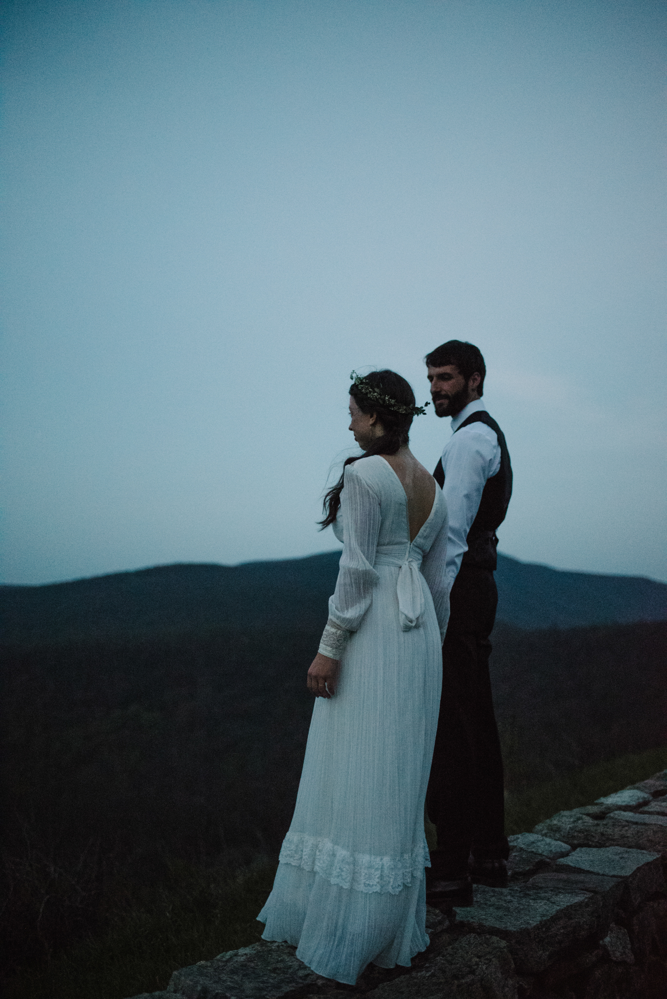 Lisa and Stuart - Post Wedding Couple Portraits - White Sails Creative - Blue Ridge Mountains - Sunrise Shenandoah National Park_9.JPG