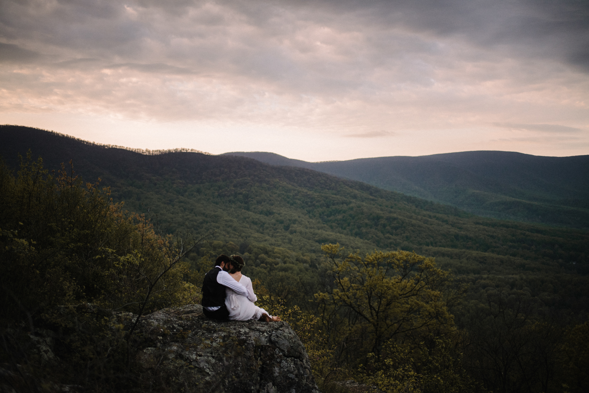 Lisa and Stuart - Post Wedding Couple Portraits - White Sails Creative - Blue Ridge Mountains - Sunrise Shenandoah National Park_34.JPG