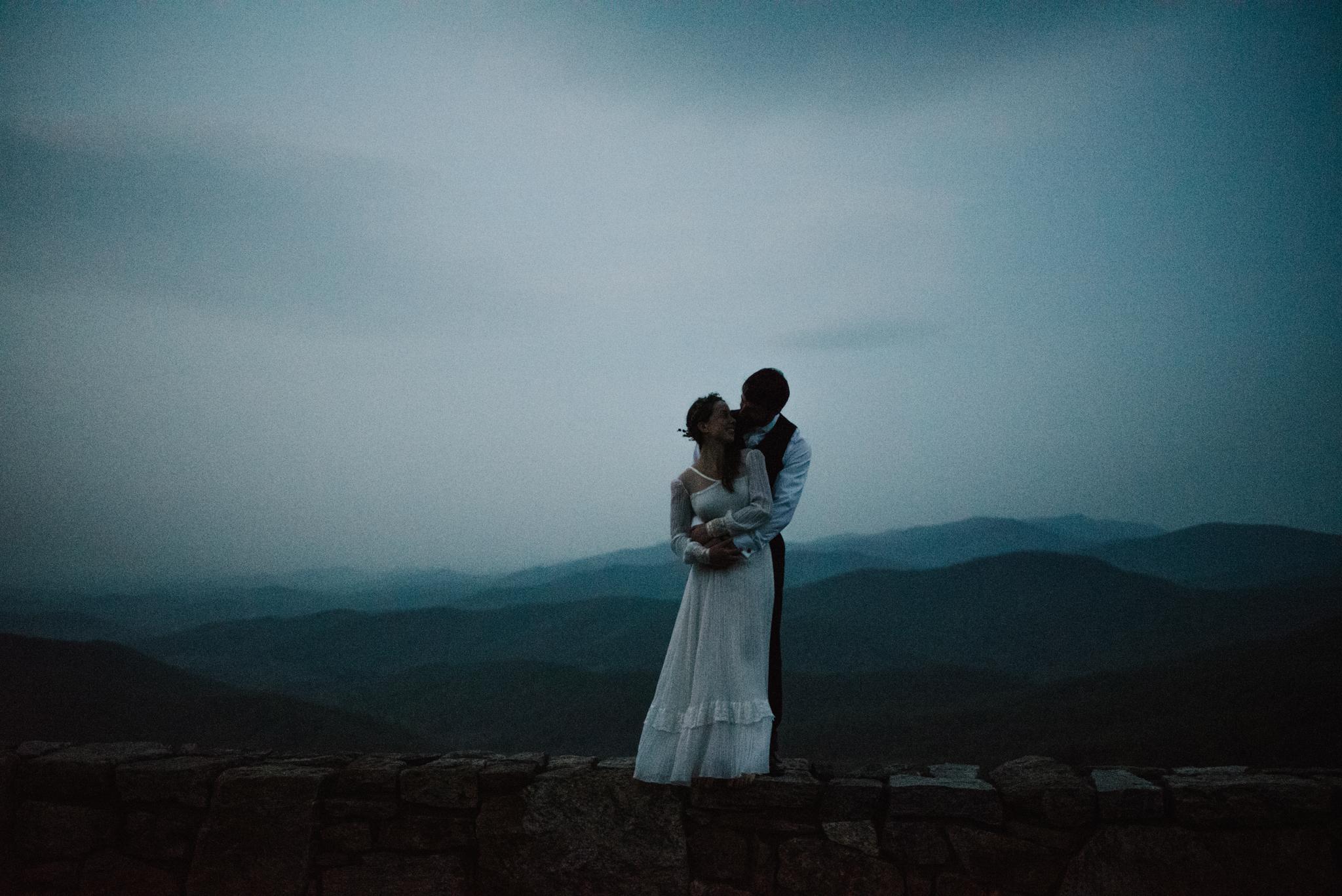 Lisa and Stuart - Post Wedding Couple Portraits - White Sails Creative - Blue Ridge Mountains - Sunrise Shenandoah National Park.JPG