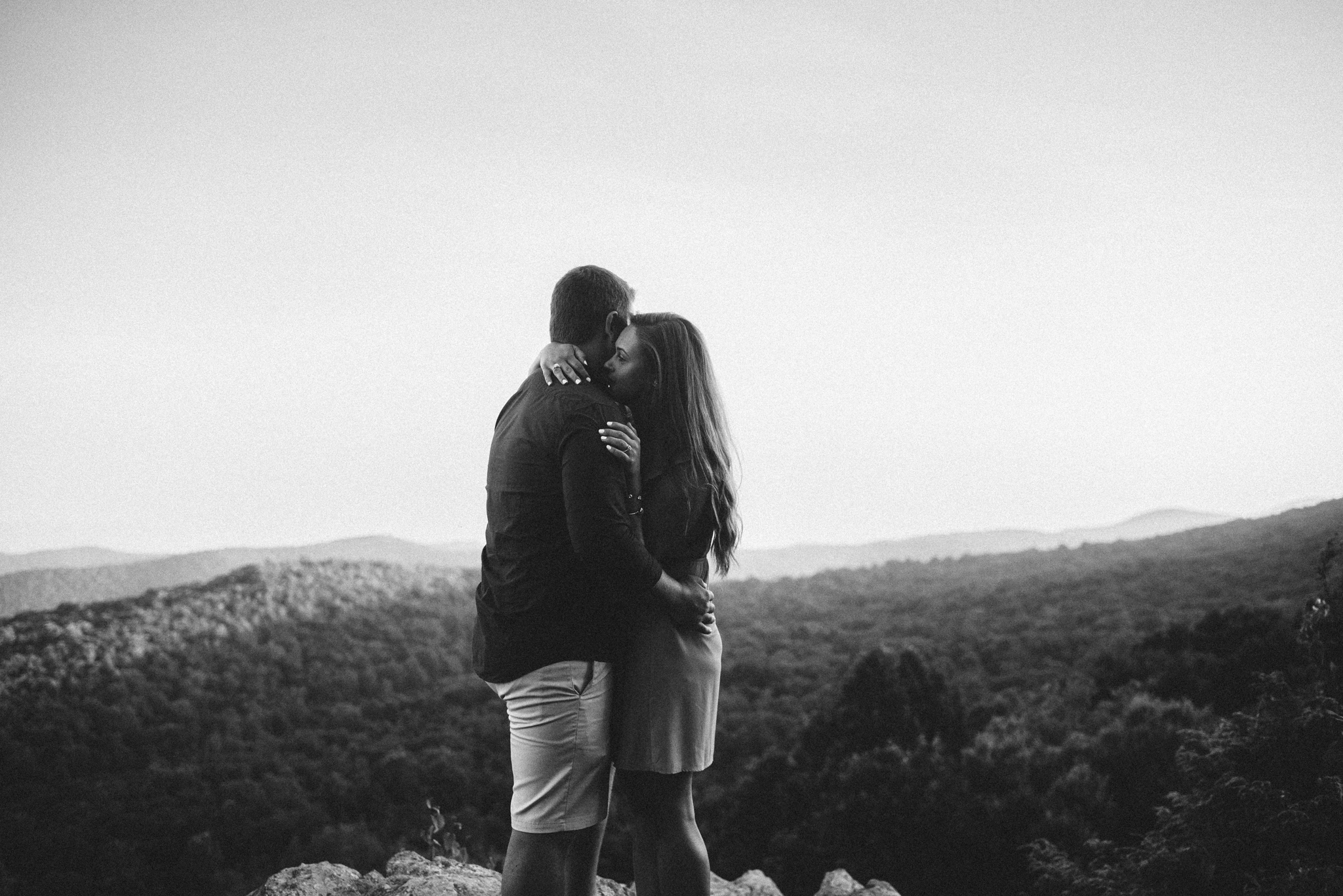 Erin and Matt - Shenandoah National Park Adventurous Sunrise Engagement Couple Photos - White Sails Creative_29.JPG
