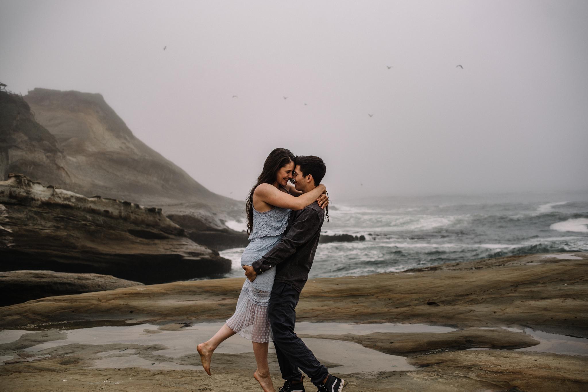 Ruthie and Anthony - Foggy Oregon Coast Couple Adventure Session - White Sails Photography Creative_25.JPG