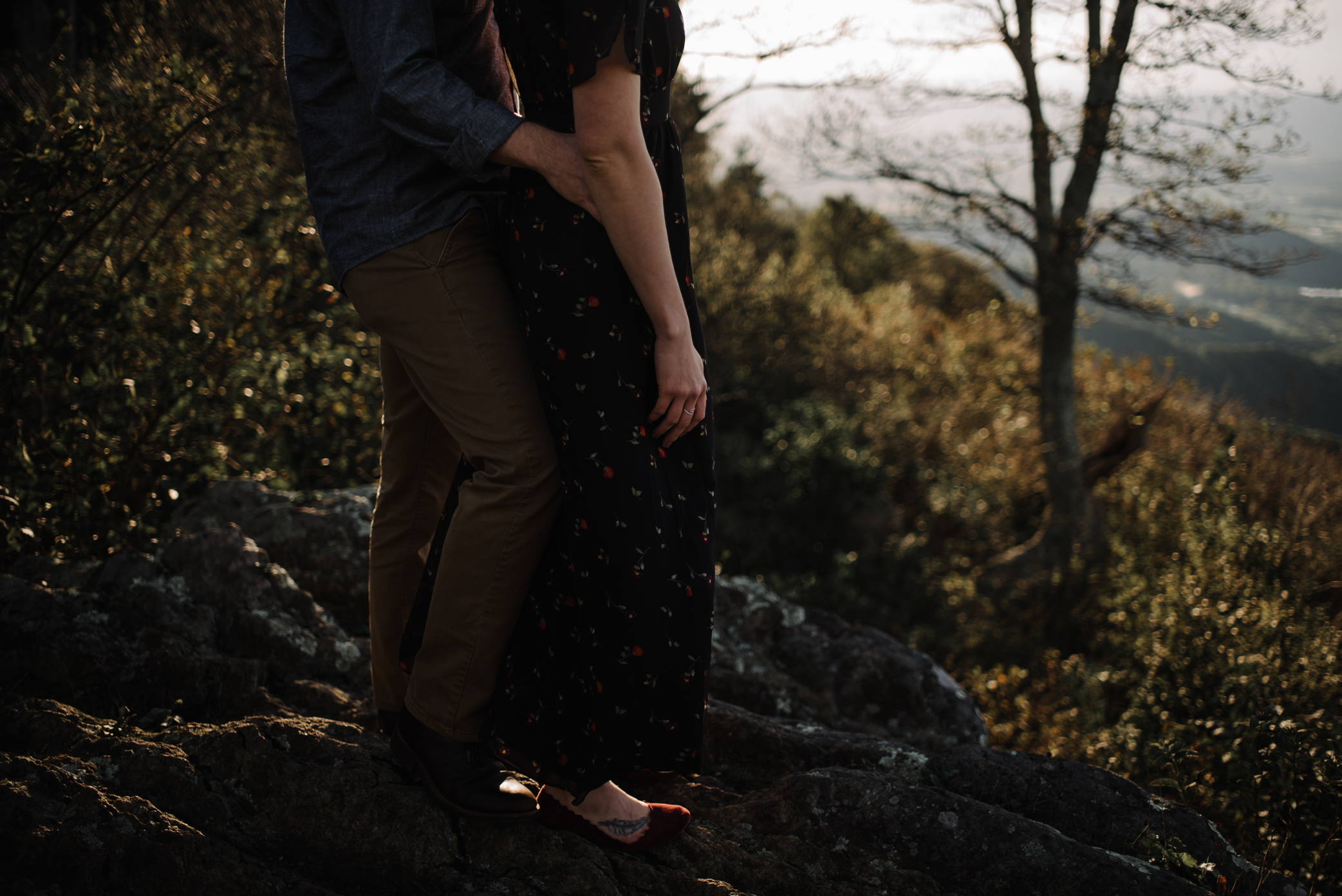 Molly and Zach Engagement Session - Fall Autumn Sunset Couple Adventure Session - Shenandoah National Park - Blue Ridge Parkway Skyline Drive - White Sails Creative_14.JPG