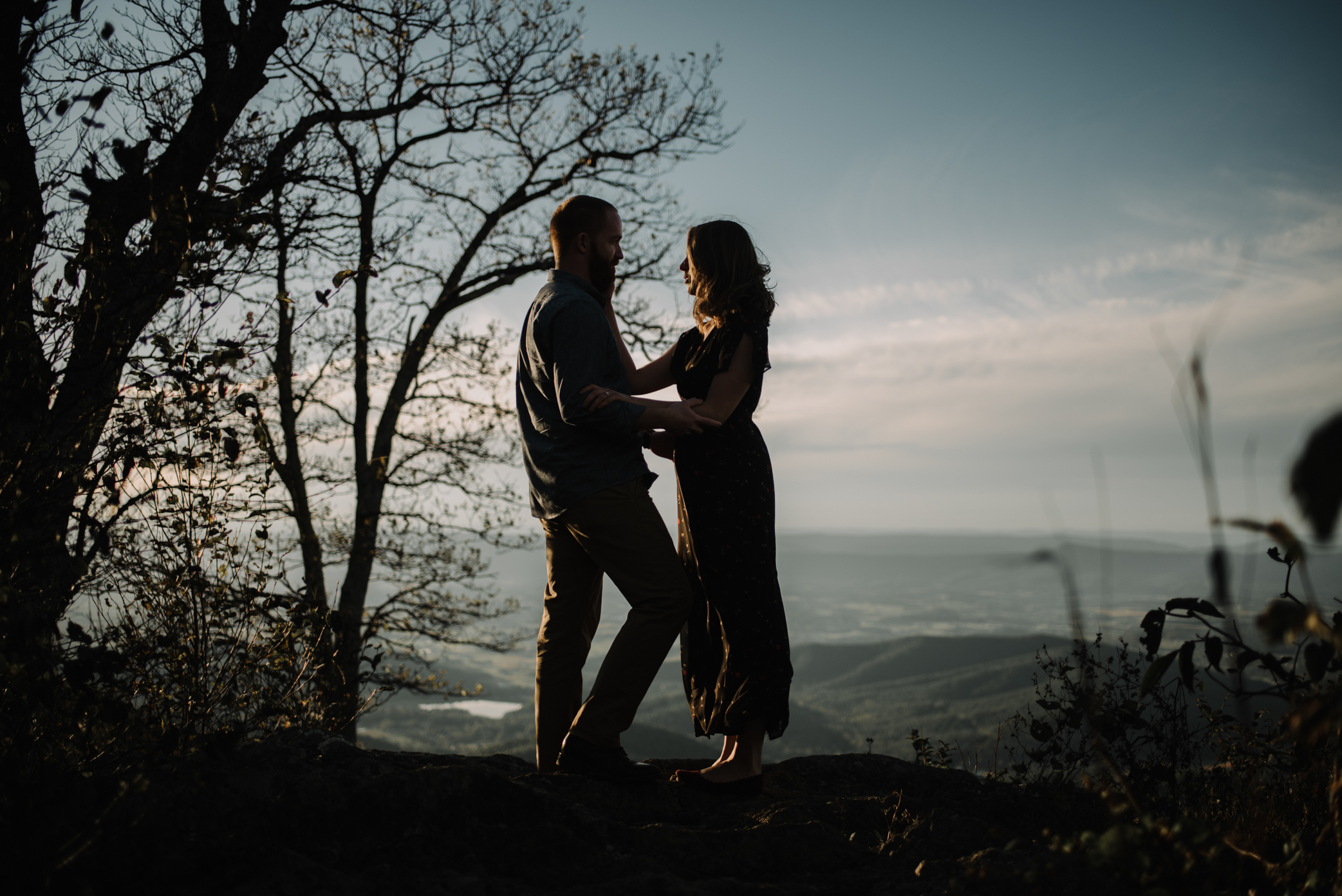 Molly and Zach Engagement Session - Fall Autumn Sunset Couple Adventure Session - Shenandoah National Park - Blue Ridge Parkway Skyline Drive - White Sails Creative_15.JPG