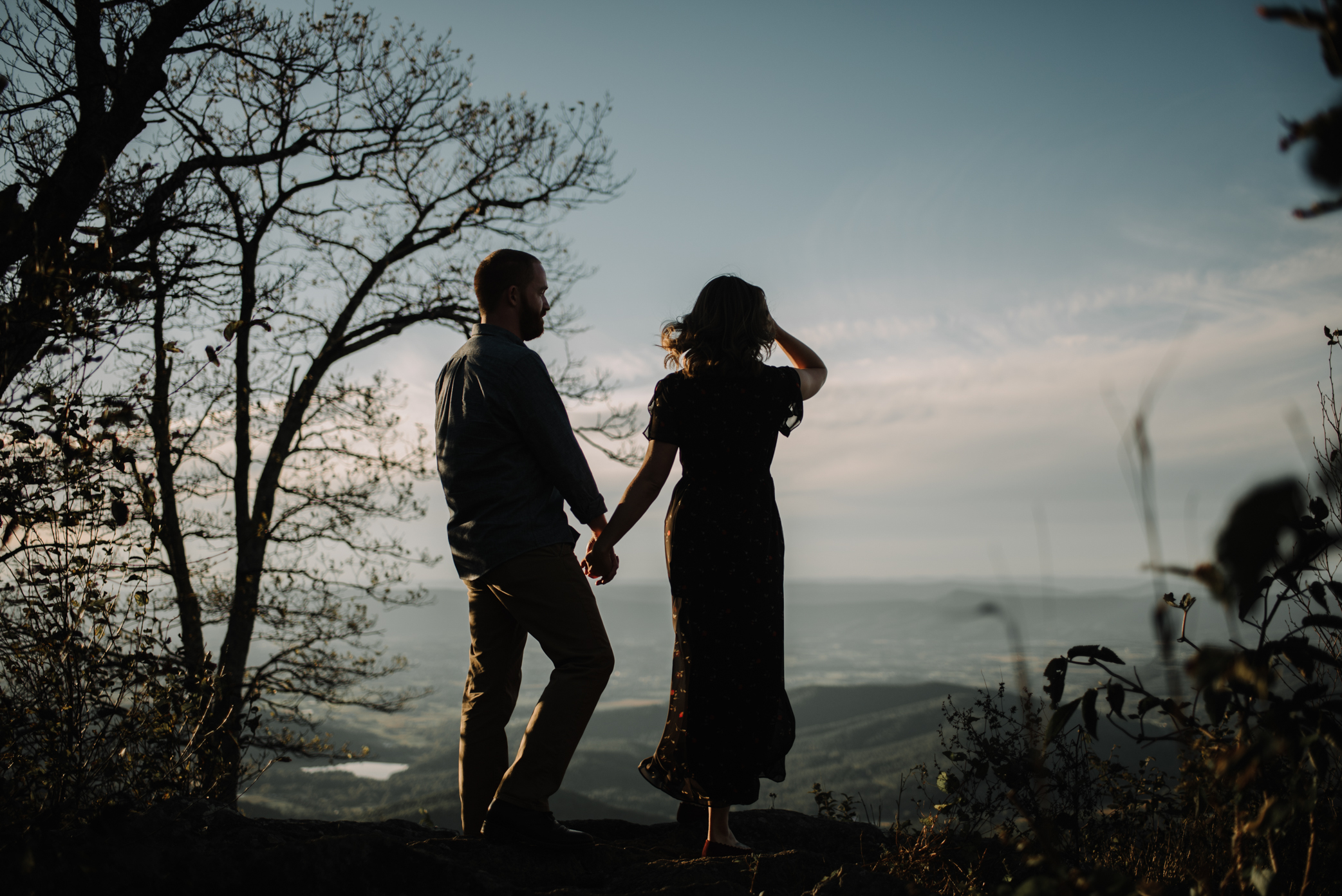 Molly and Zach Engagement Session - Fall Autumn Sunset Couple Adventure Session - Shenandoah National Park - Blue Ridge Parkway Skyline Drive - White Sails Creative_16.JPG