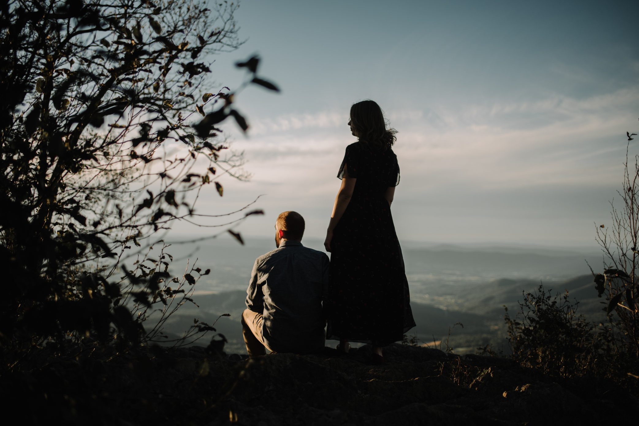 Molly and Zach Engagement Session - Fall Autumn Sunset Couple Adventure Session - Shenandoah National Park - Blue Ridge Parkway Skyline Drive - White Sails Creative_19.JPG