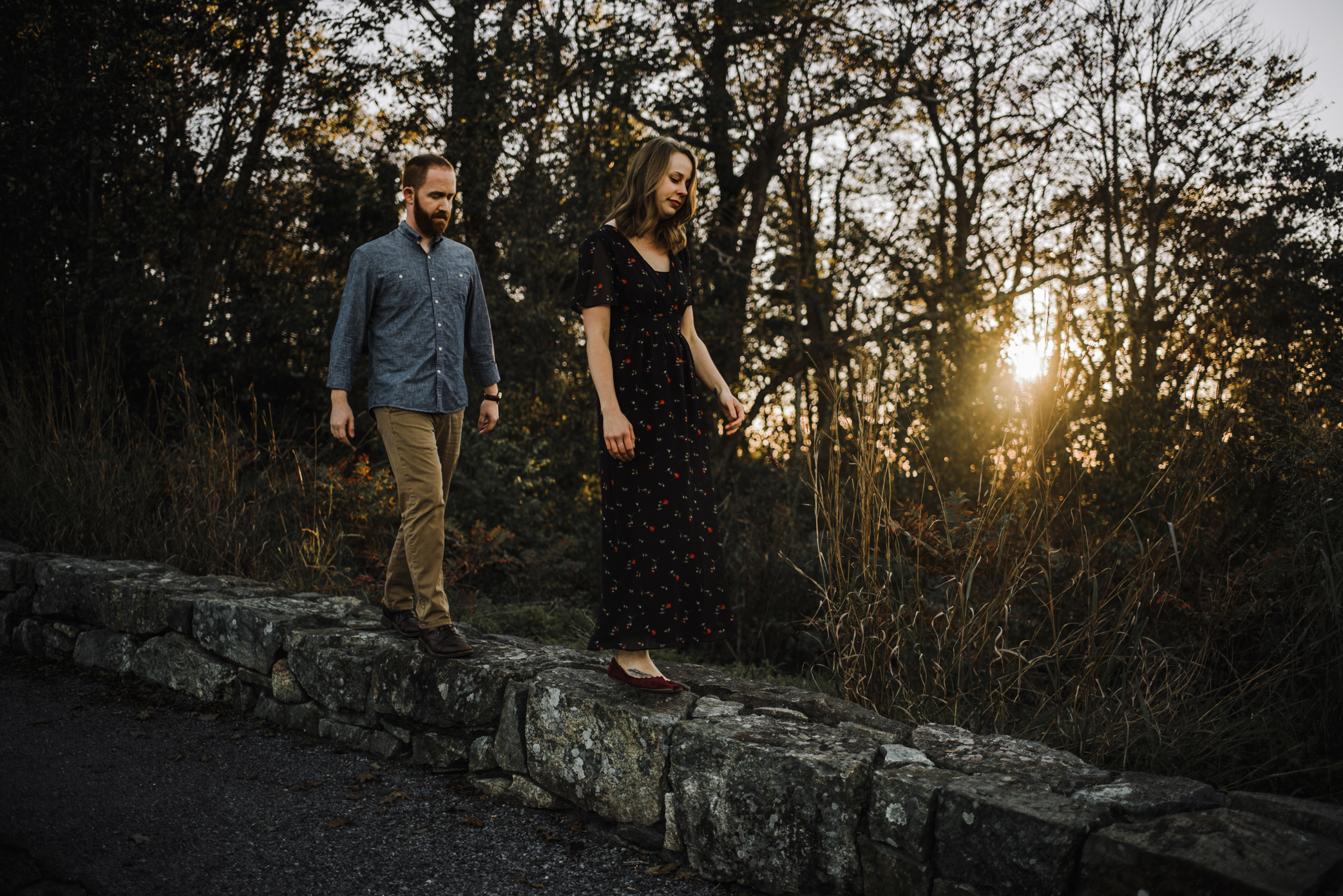 Molly and Zach Engagement Session - Fall Autumn Sunset Couple Adventure Session - Shenandoah National Park - Blue Ridge Parkway Skyline Drive - White Sails Creative_27.JPG