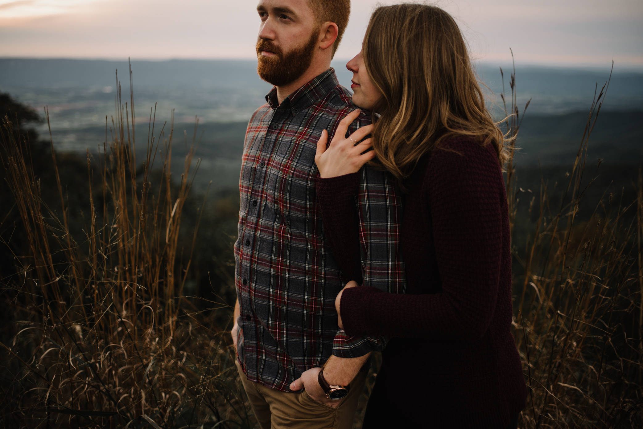 Molly and Zach Engagement Session - Fall Autumn Sunset Couple Adventure Session - Shenandoah National Park - Blue Ridge Parkway Skyline Drive - White Sails Creative_40.JPG