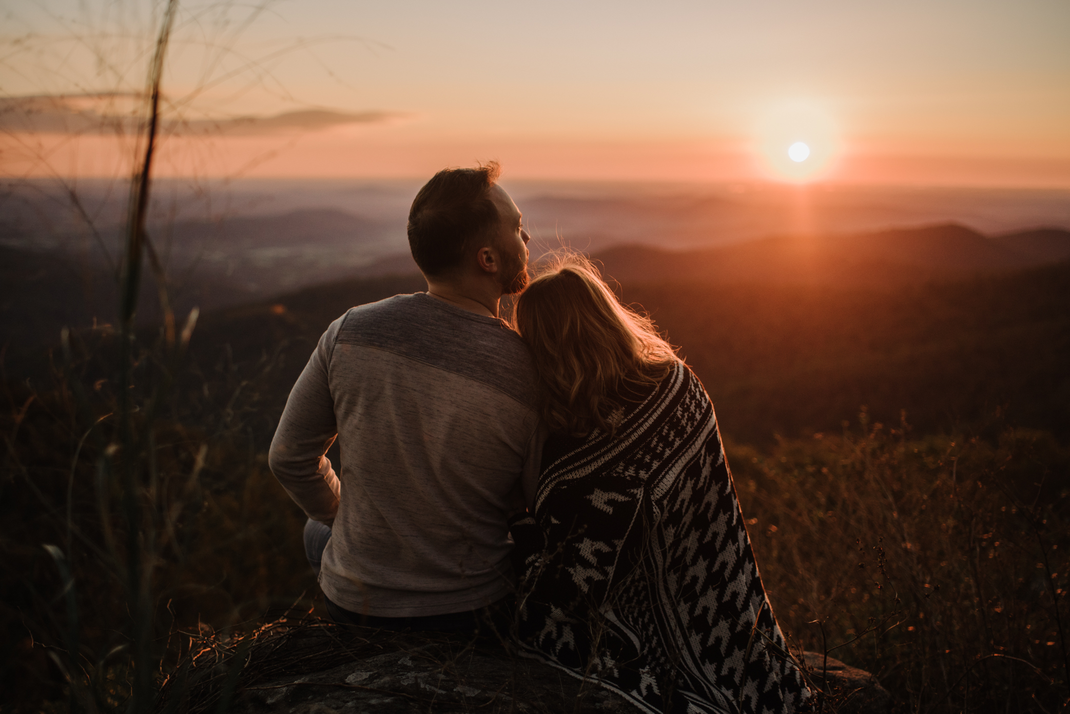 Macy and Mark - Shenandoah National Park - Fall Autumn Sunrise Couple Adventure Session - White Sails Creative - Mini Session_12.JPG