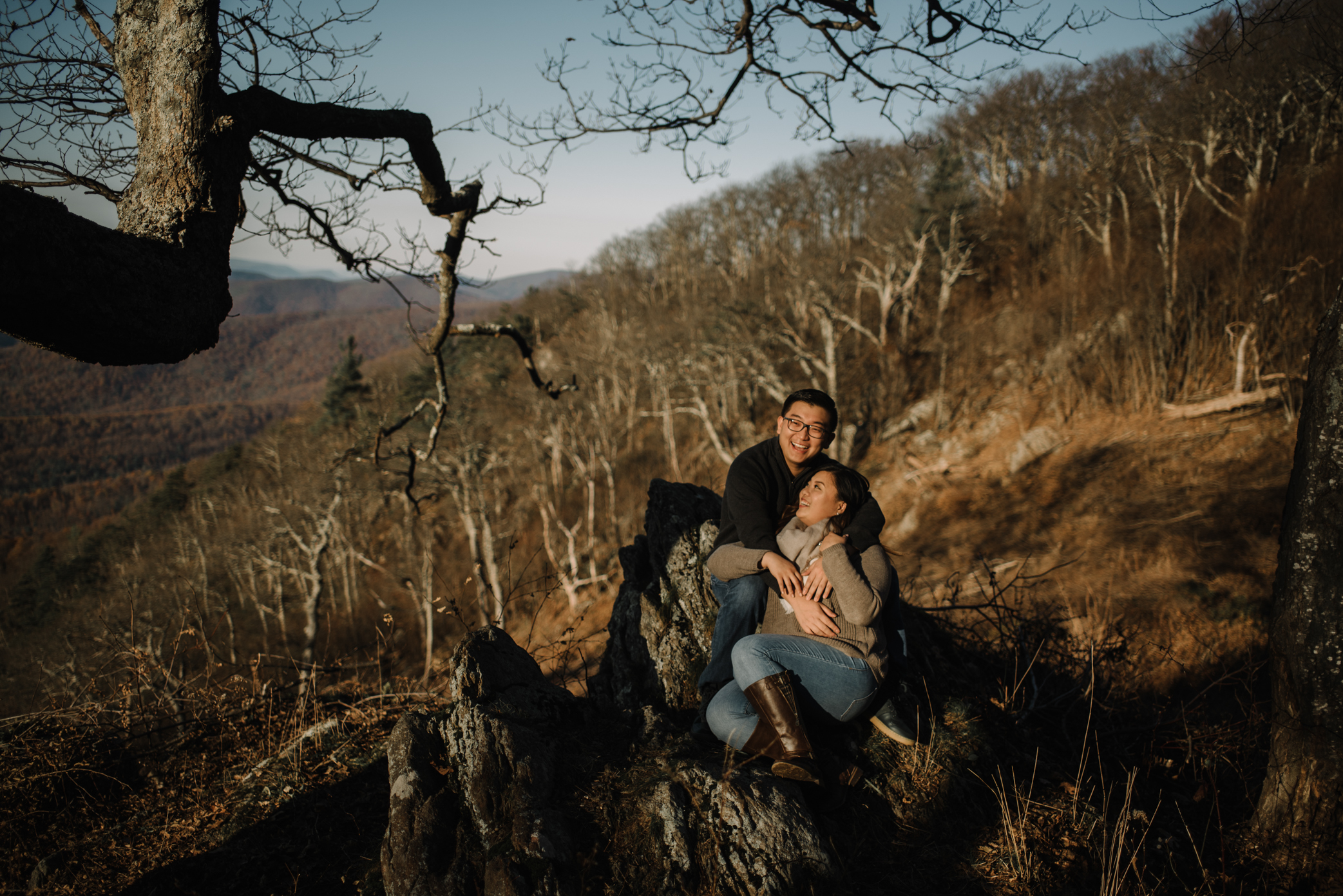 Joshua and Kristina - Shenandoah National Park - Skyline Drive - Winter Engagement Session Photographer - White Sails Creative_2.JPG
