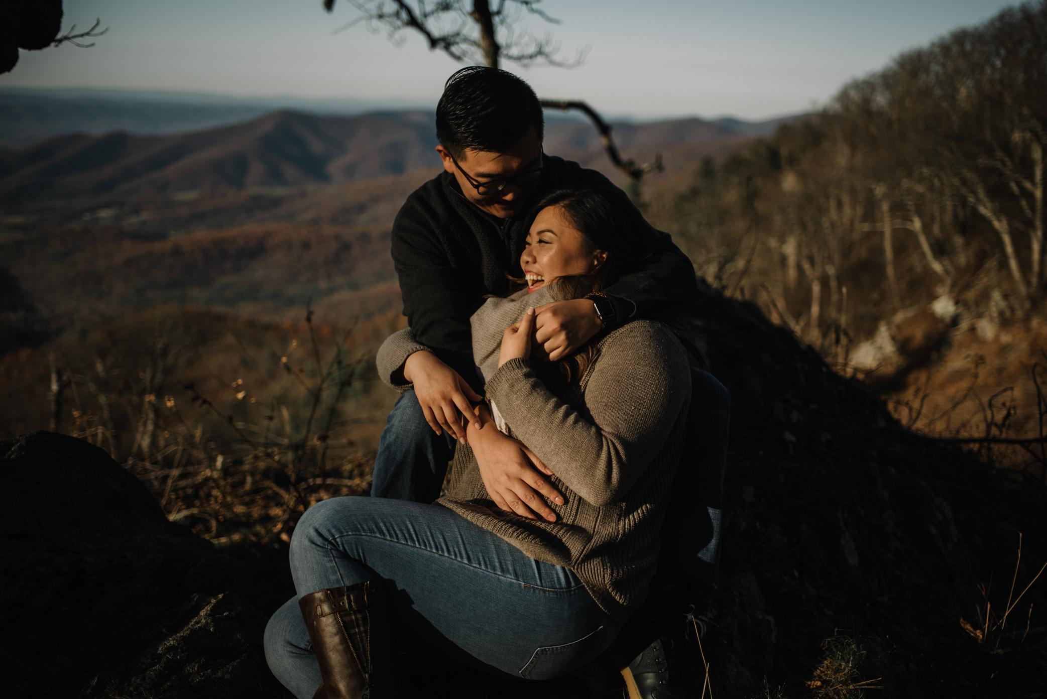 Joshua and Kristina - Shenandoah National Park - Skyline Drive - Winter Engagement Session Photographer - White Sails Creative_4.JPG