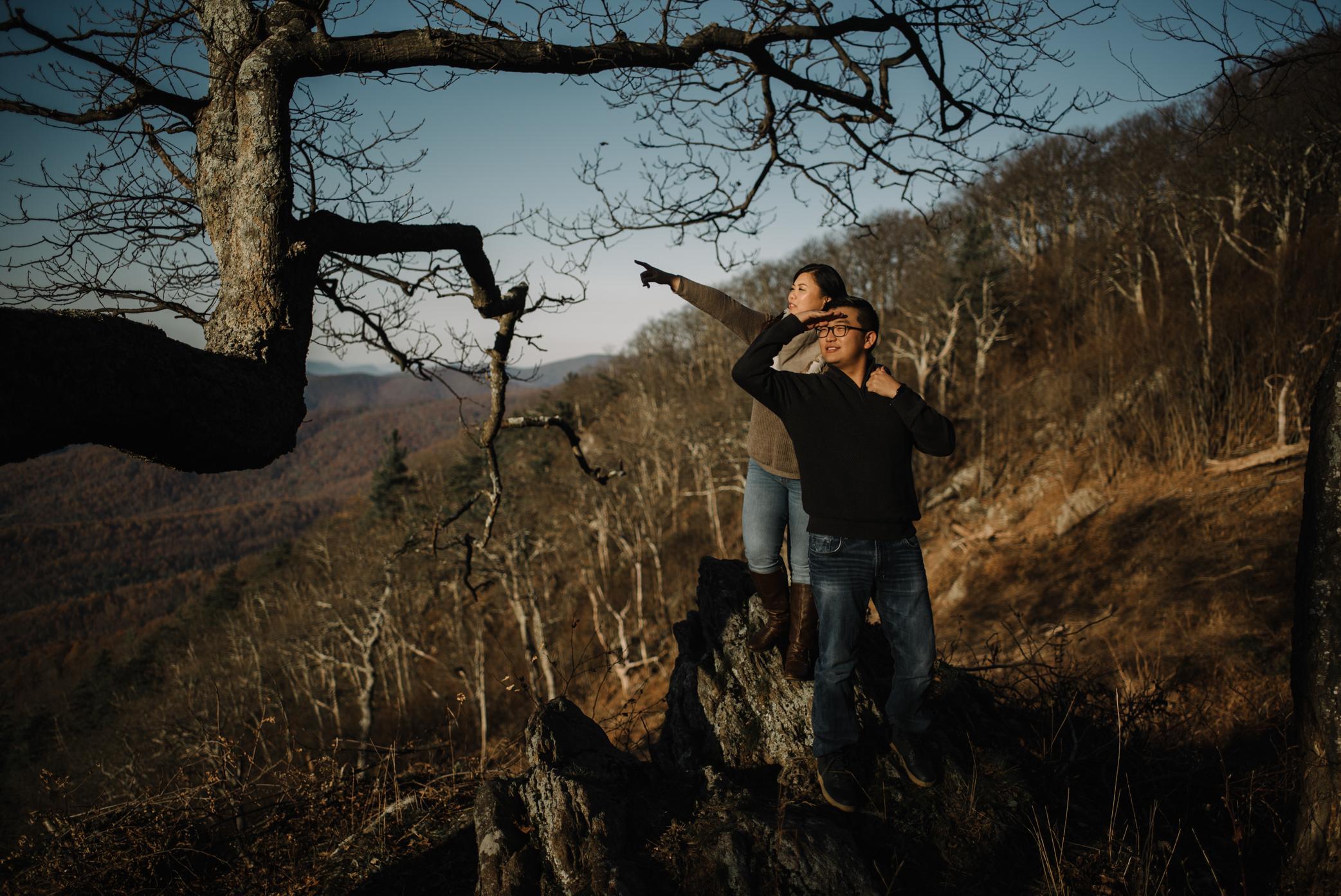 Joshua and Kristina - Shenandoah National Park - Skyline Drive - Winter Engagement Session Photographer - White Sails Creative_5.JPG