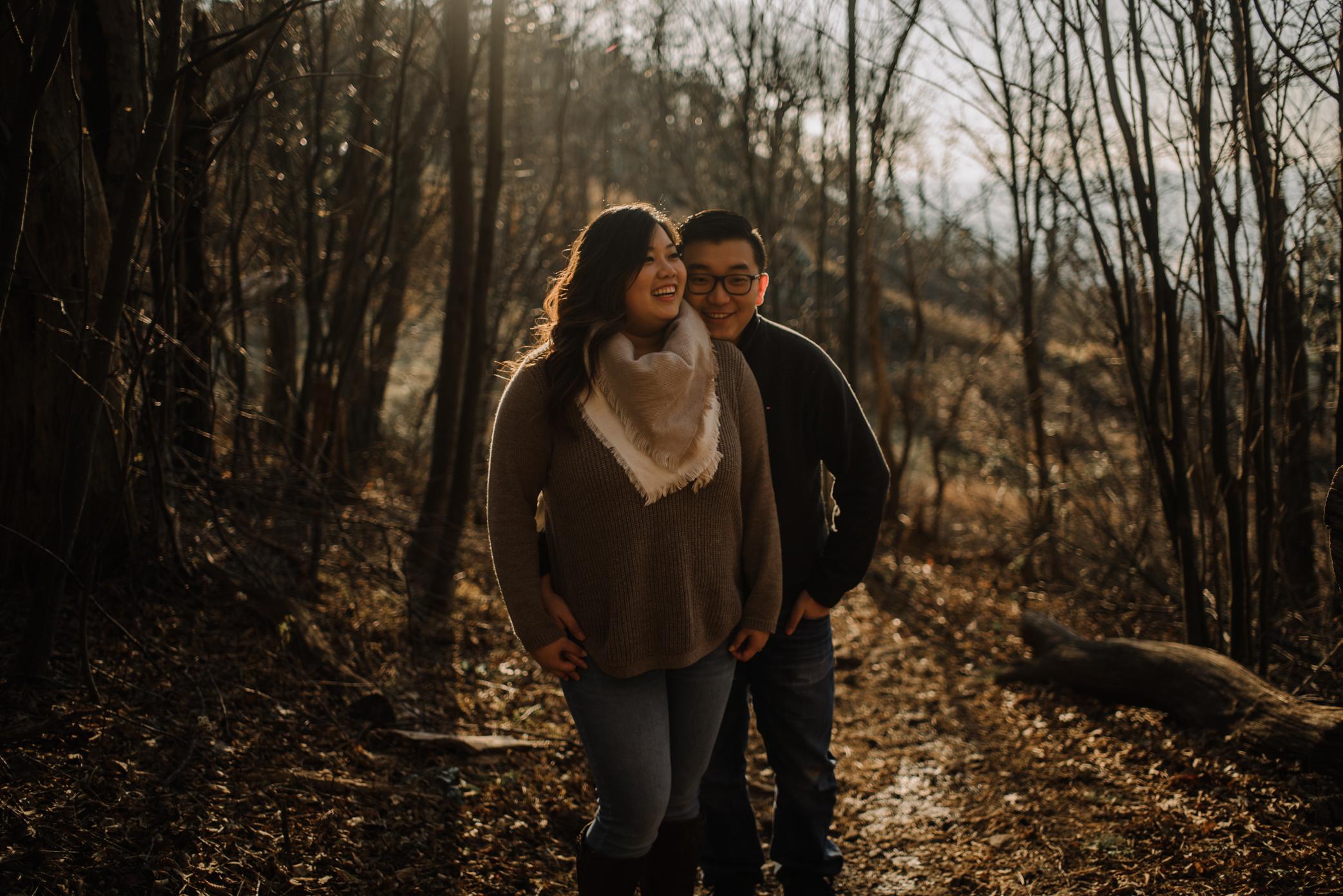 Joshua and Kristina - Shenandoah National Park - Skyline Drive - Winter Engagement Session Photographer - White Sails Creative_6.JPG