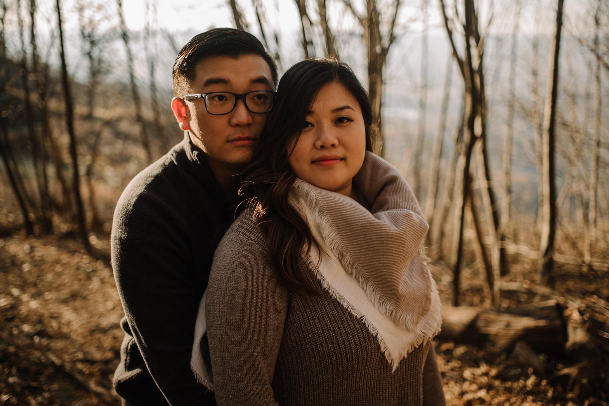 Joshua and Kristina - Shenandoah National Park - Skyline Drive - Winter Engagement Session Photographer - White Sails Creative_7.JPG