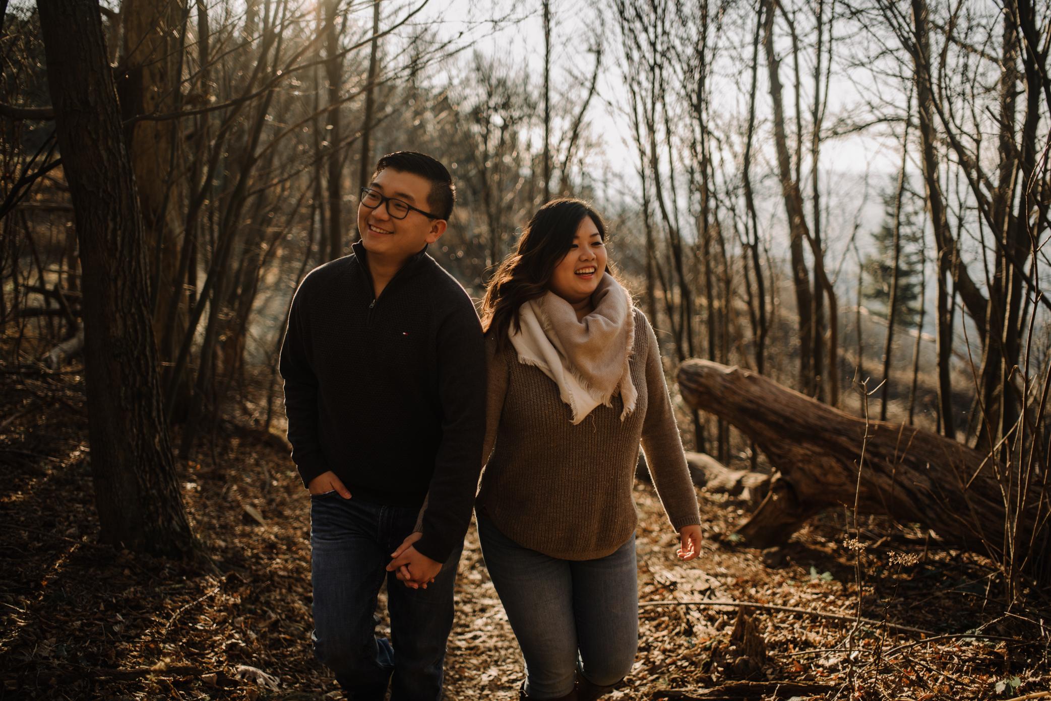 Joshua and Kristina - Shenandoah National Park - Skyline Drive - Winter Engagement Session Photographer - White Sails Creative_11.JPG