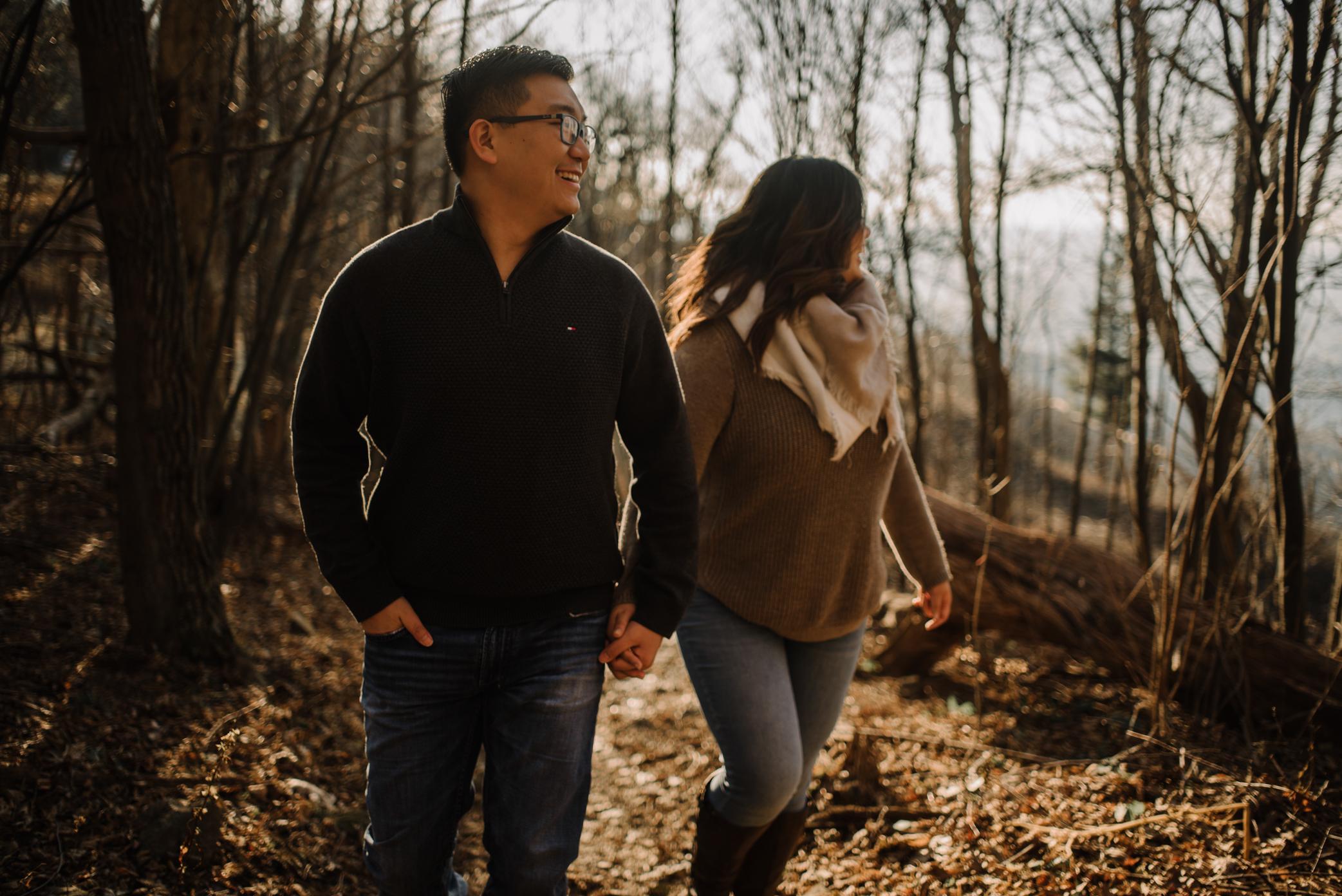 Joshua and Kristina - Shenandoah National Park - Skyline Drive - Winter Engagement Session Photographer - White Sails Creative_12.JPG